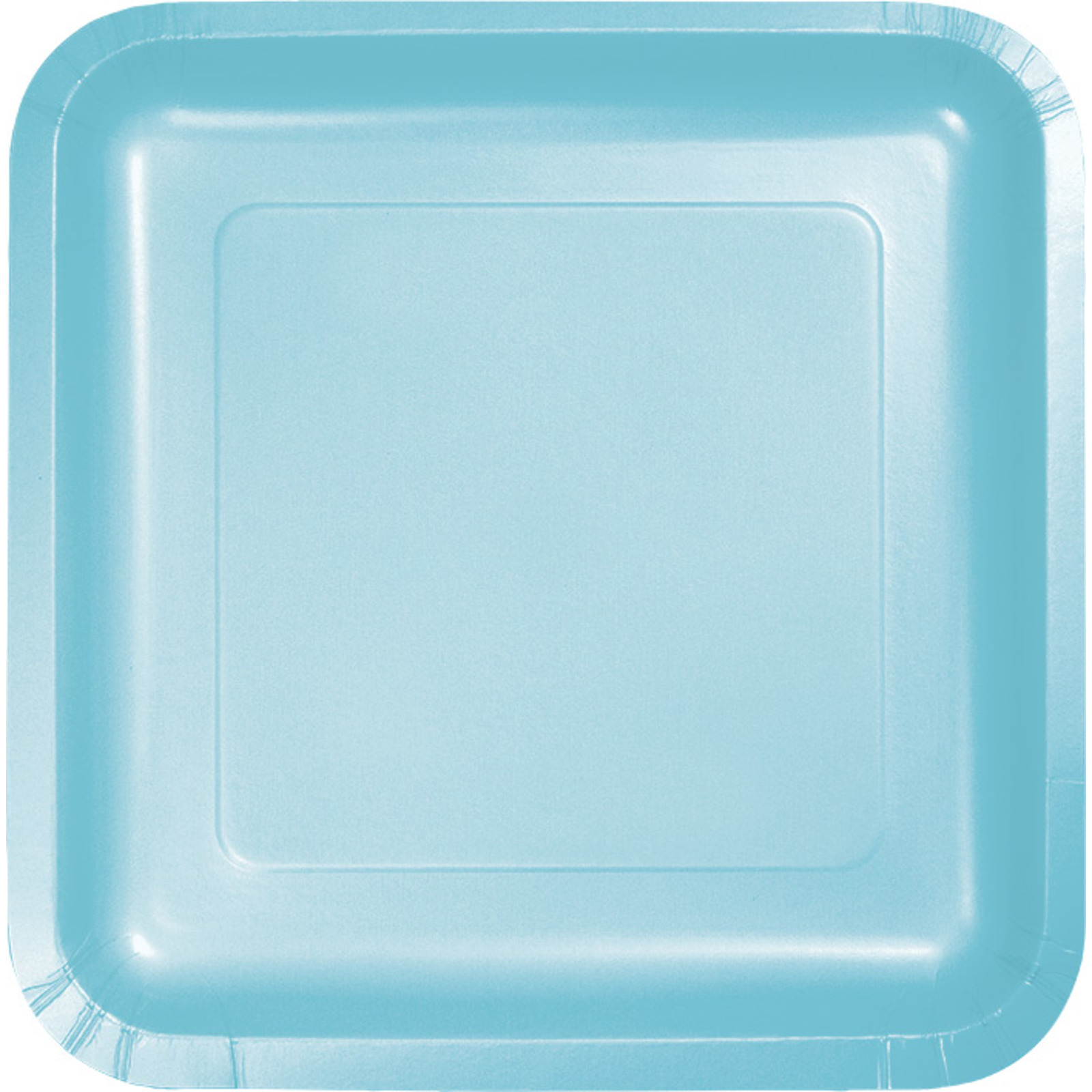 Creative Converting Light Blue 7 Inch Square Lunch Plates