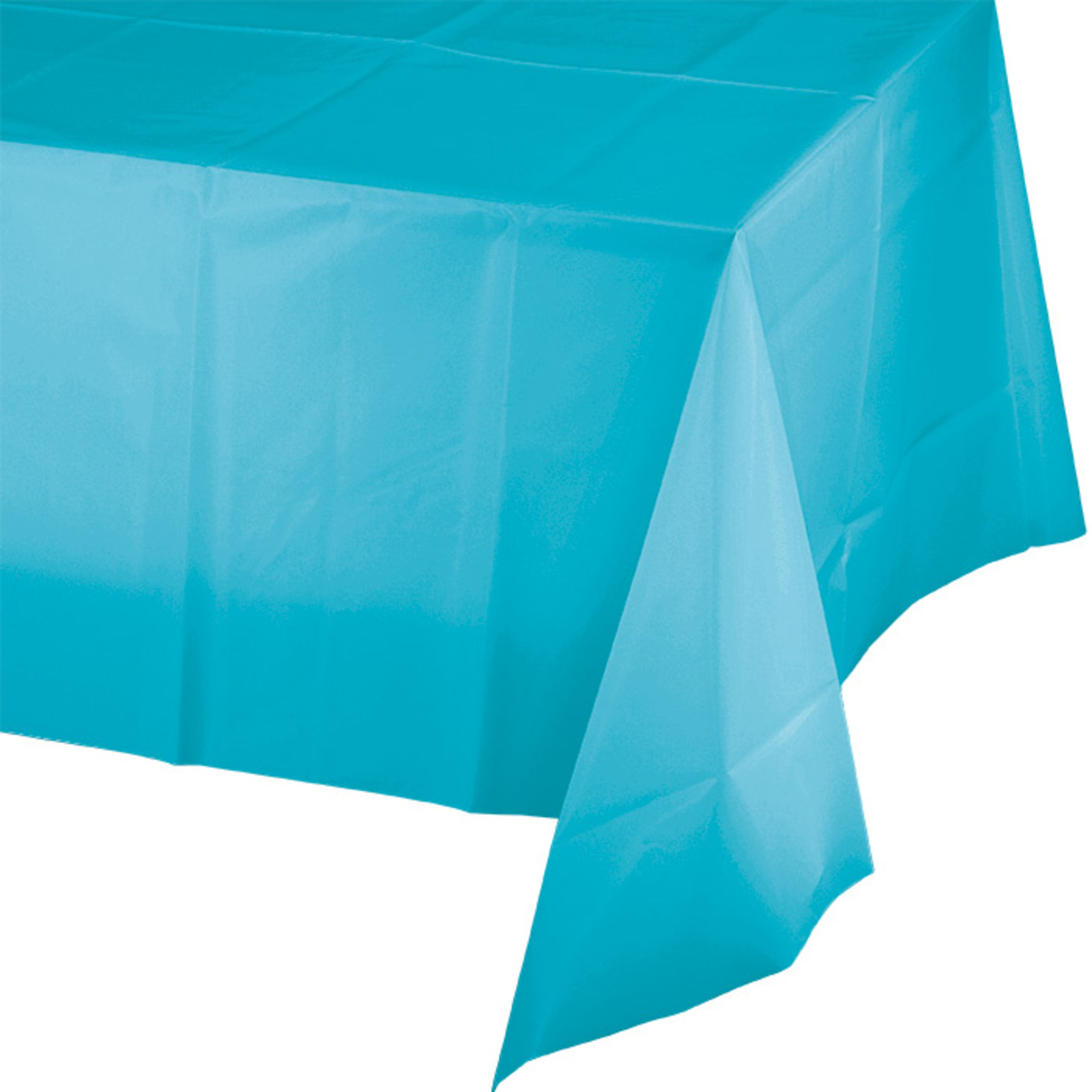 Creative Converting Bermuda Blue Plastic Tablecover