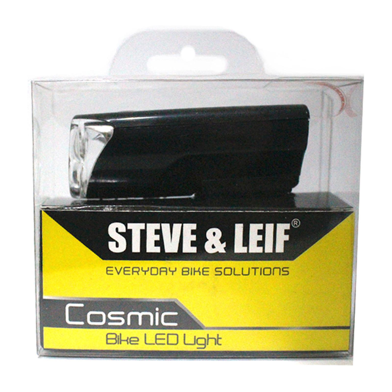 Steve & Leif Cosmic 3 LED Black Bicycle Torch