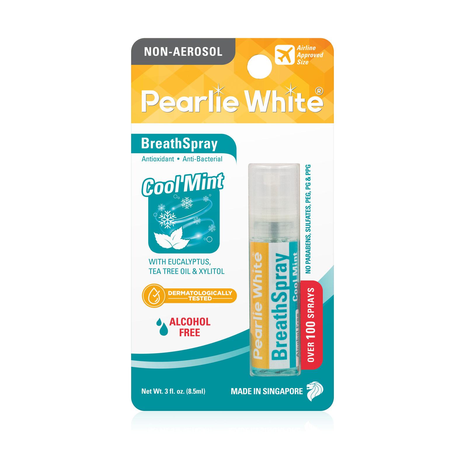 Pearlie White BreathSpray Breath Freshening Spray CoolMint