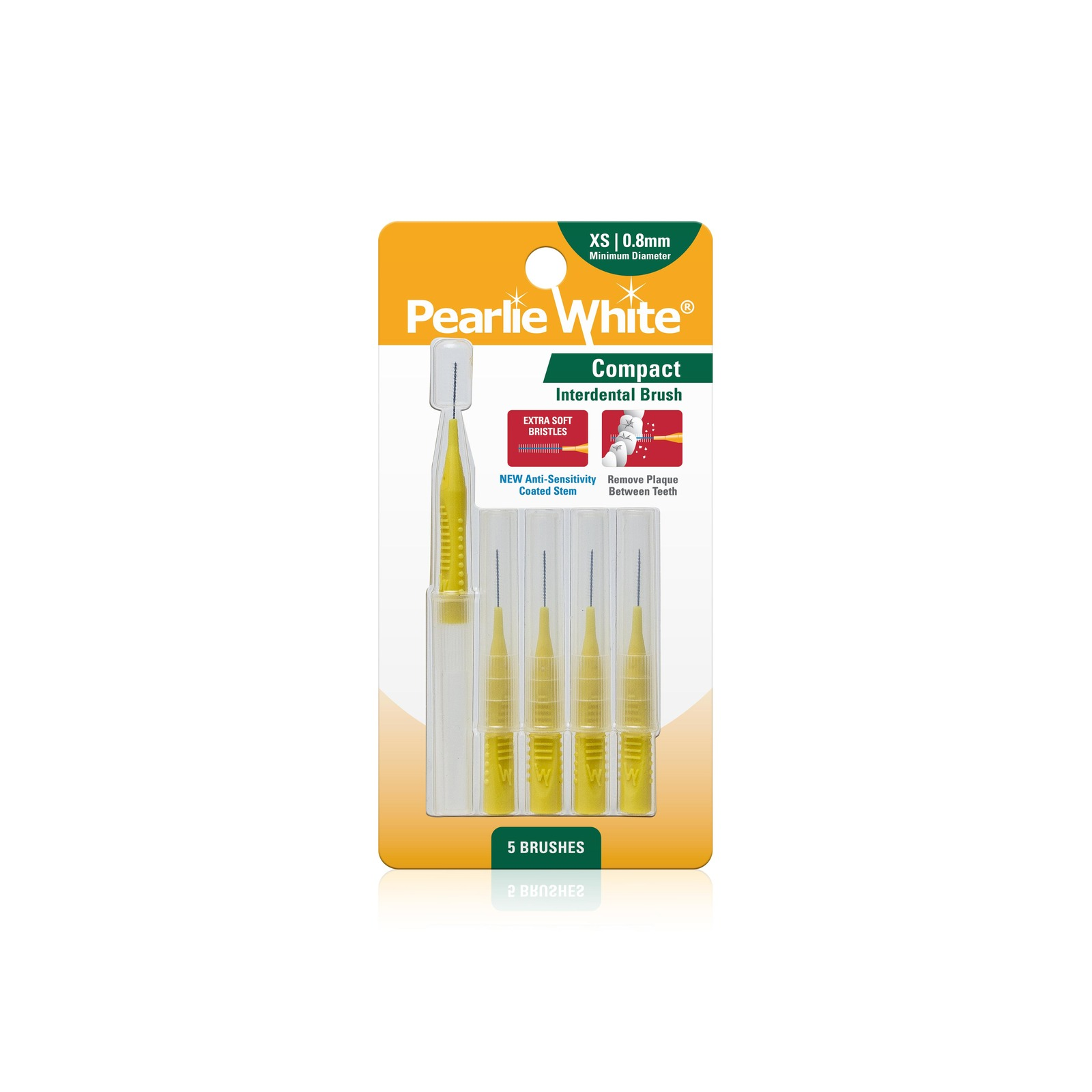 Pearlie White Compact Interdental Brushes XS 0.8mm