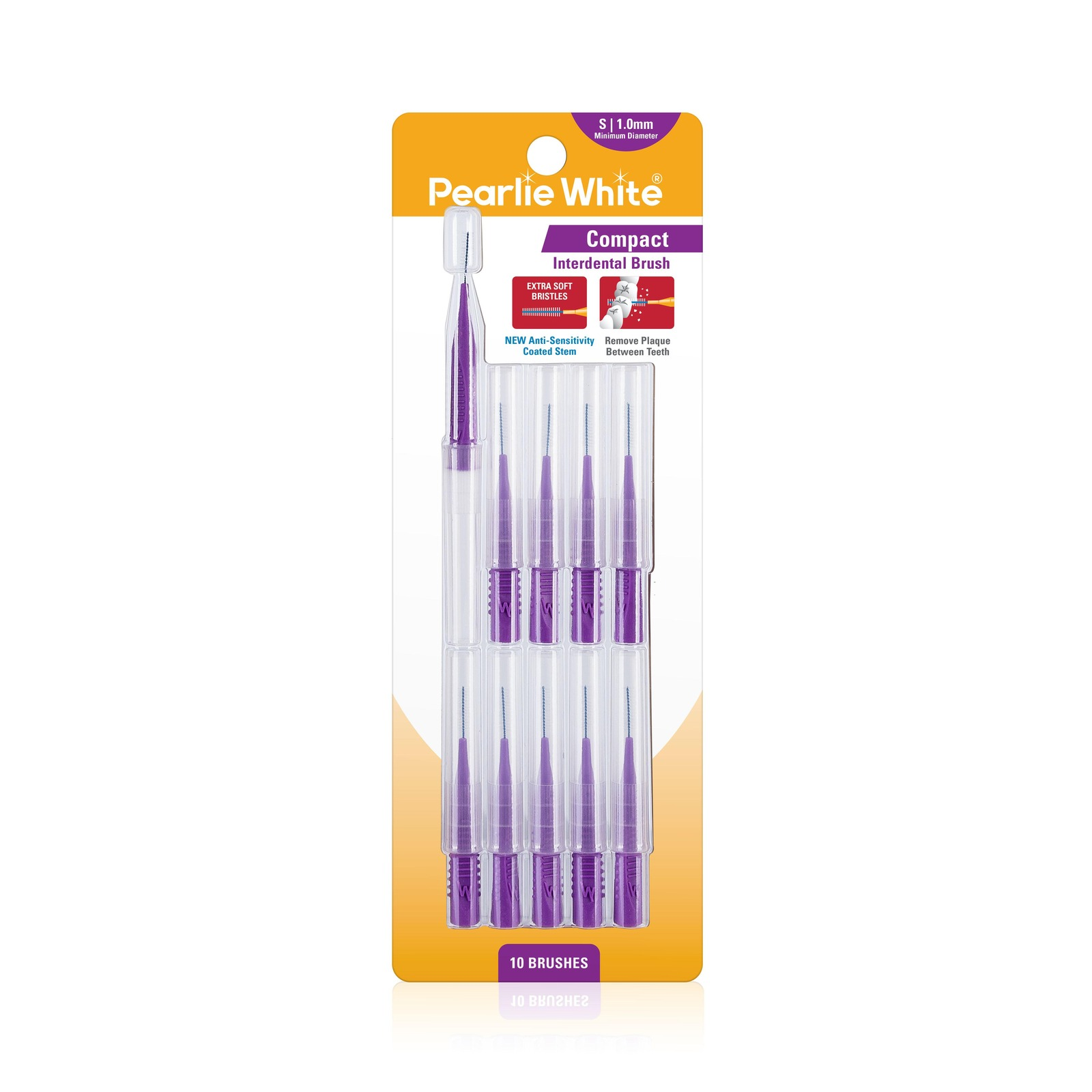 Pearlie White Compact Interdental Brushes S 1.0mm