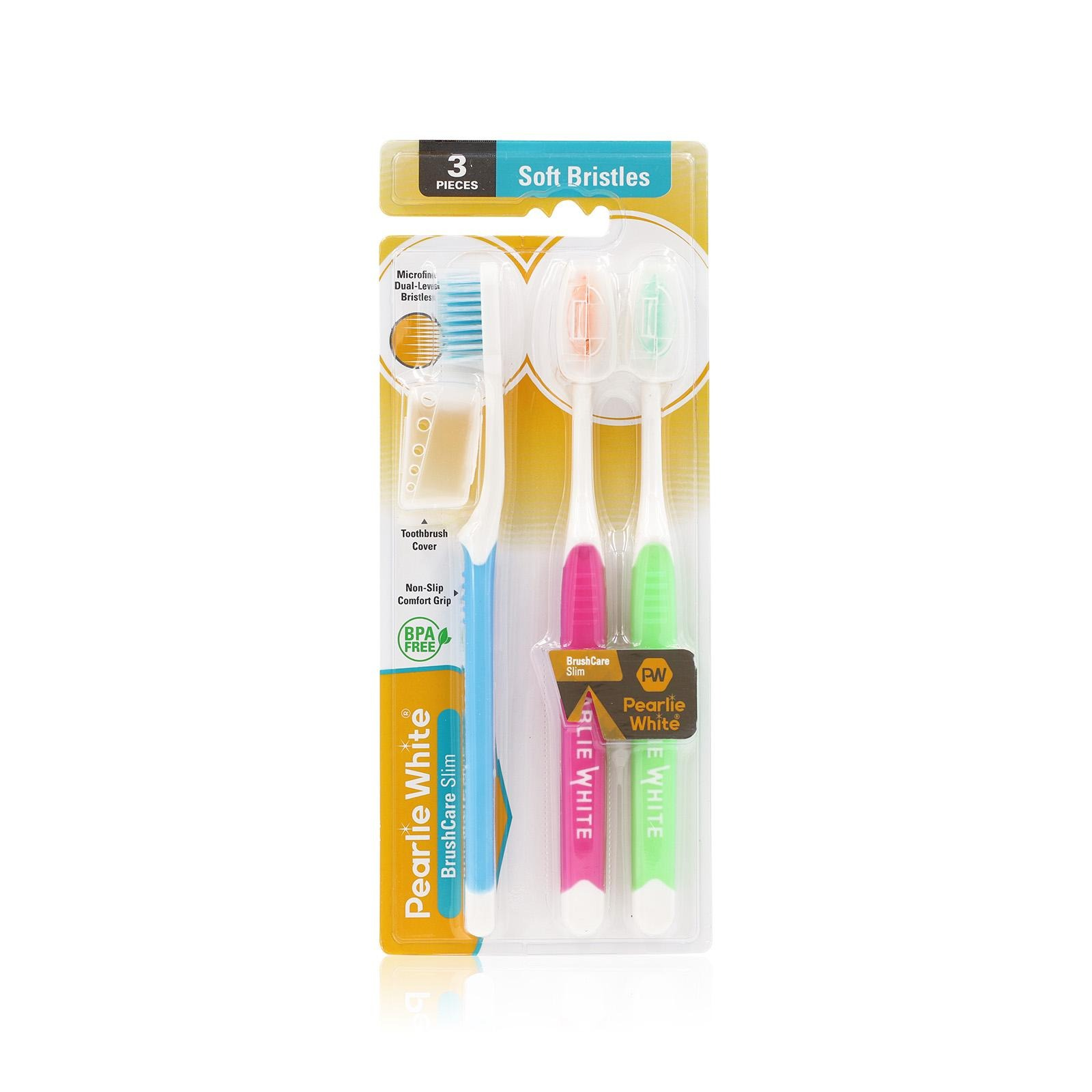 Pearlie White BrushCare Slim Soft Toothbrush Triple Pack