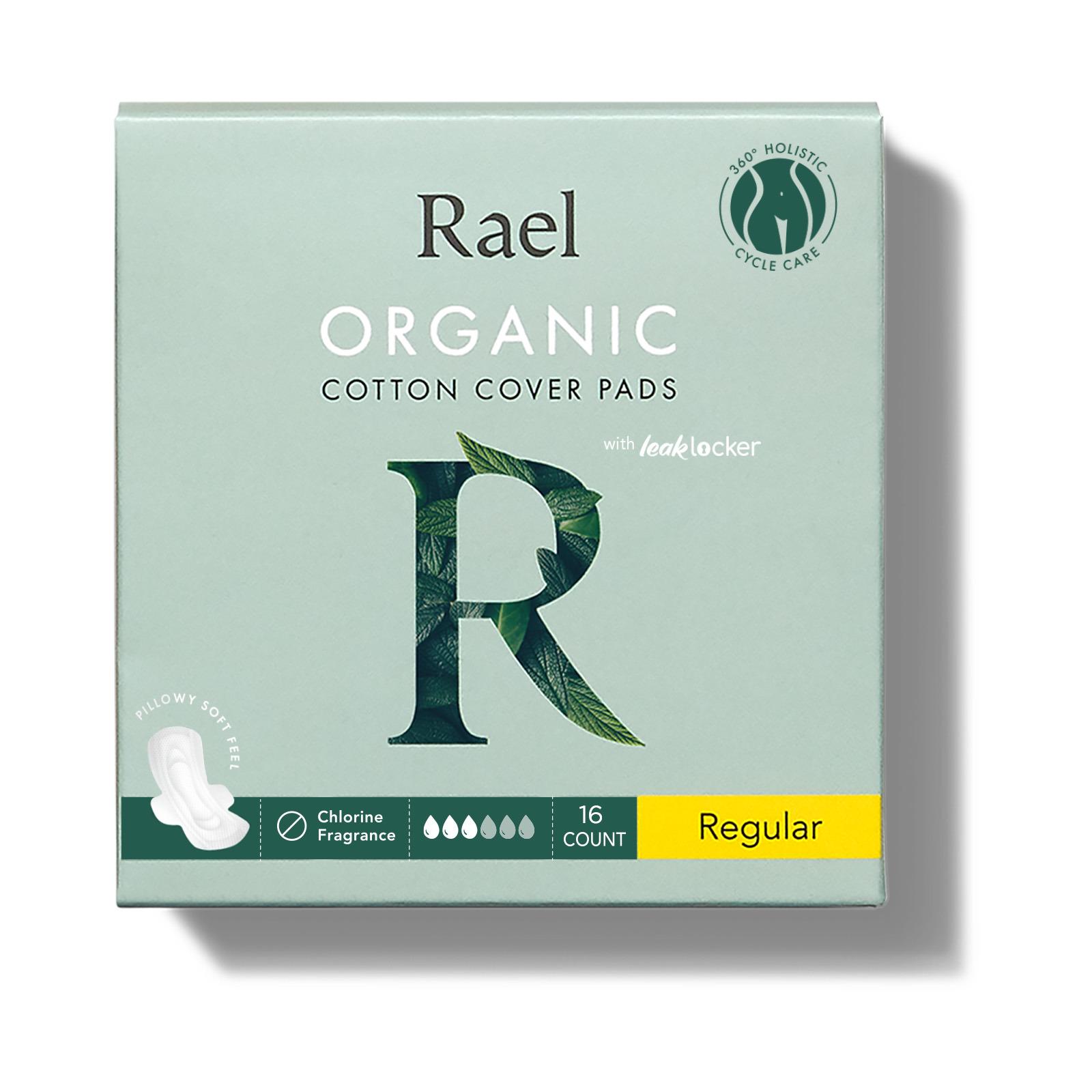 Rael Organic Cotton Cover Pads - Regular