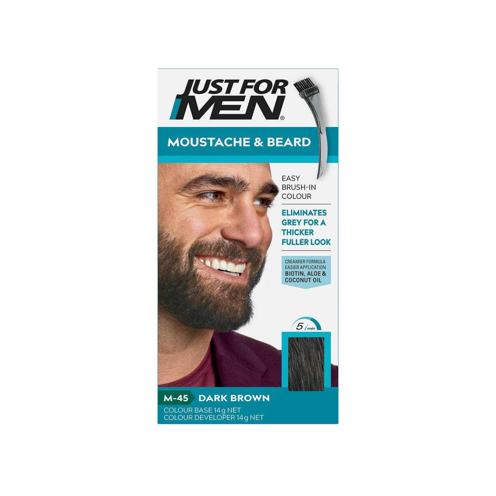 Just For Men Brush-In Color Gel - Dark Brown Black