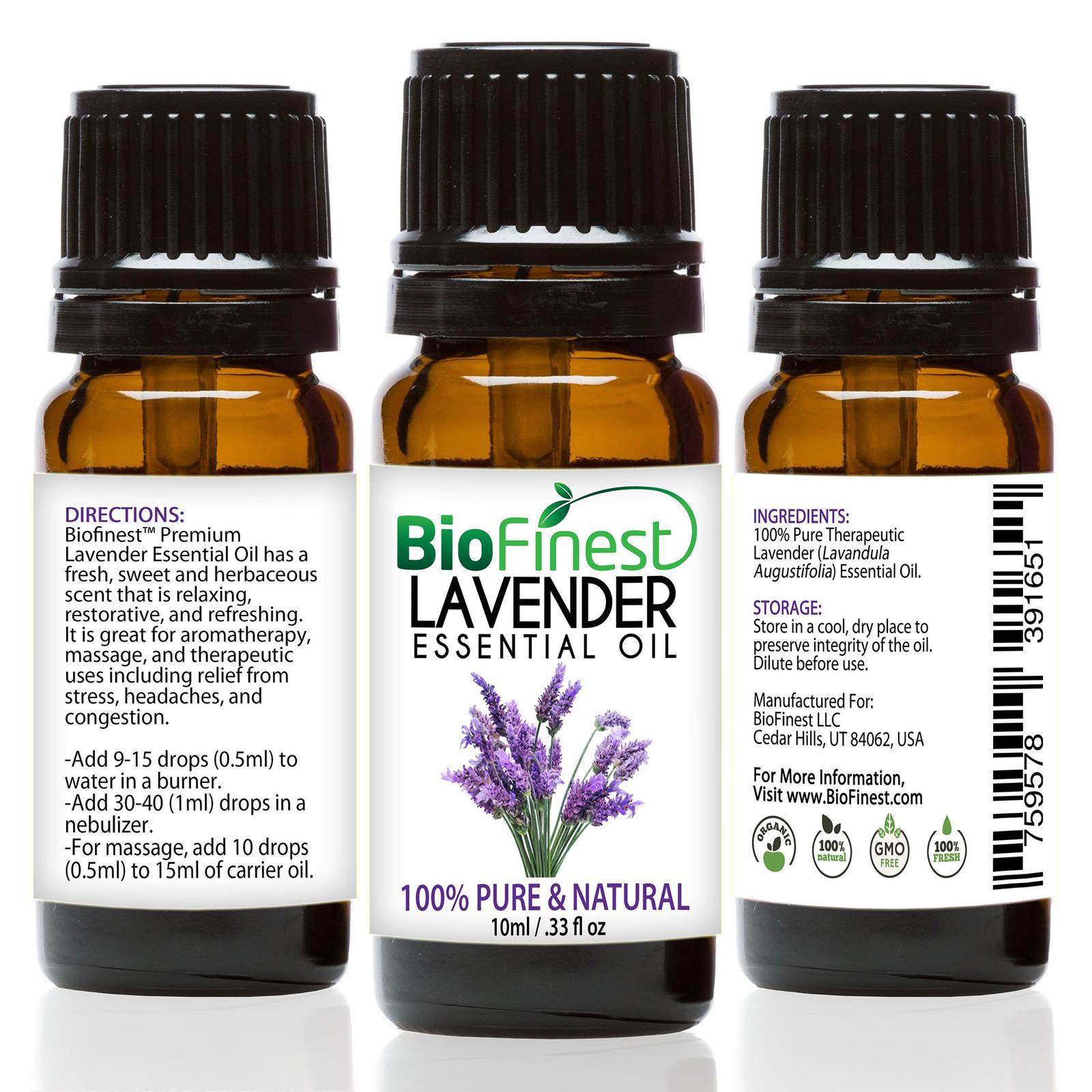 Biofinest Lavender Essential Oil - Organic Pure Undiluted