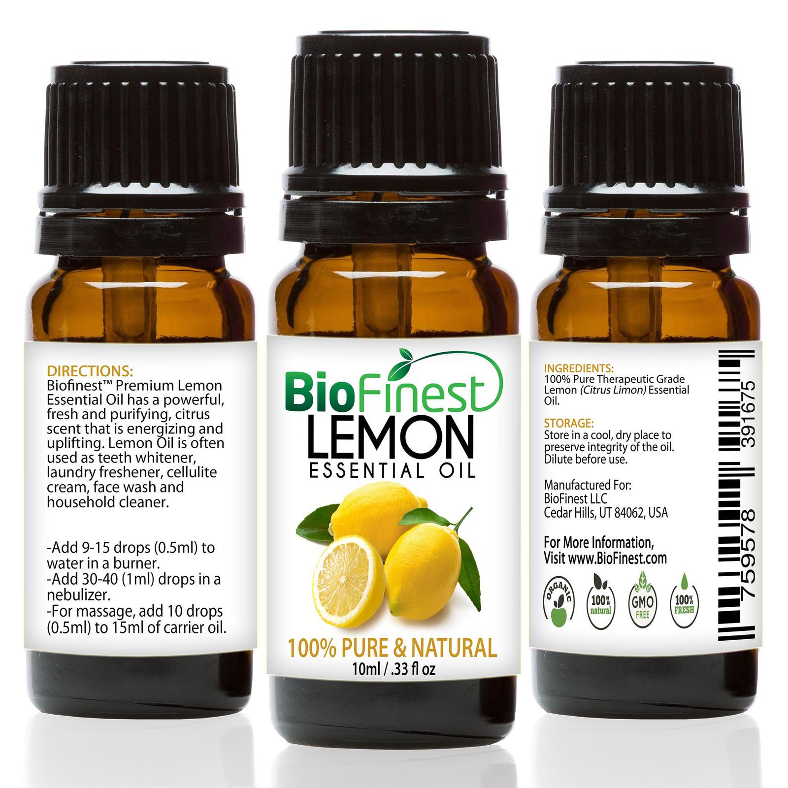 Biofinest Lemon Essential Oil - Organic Pure Undiluted
