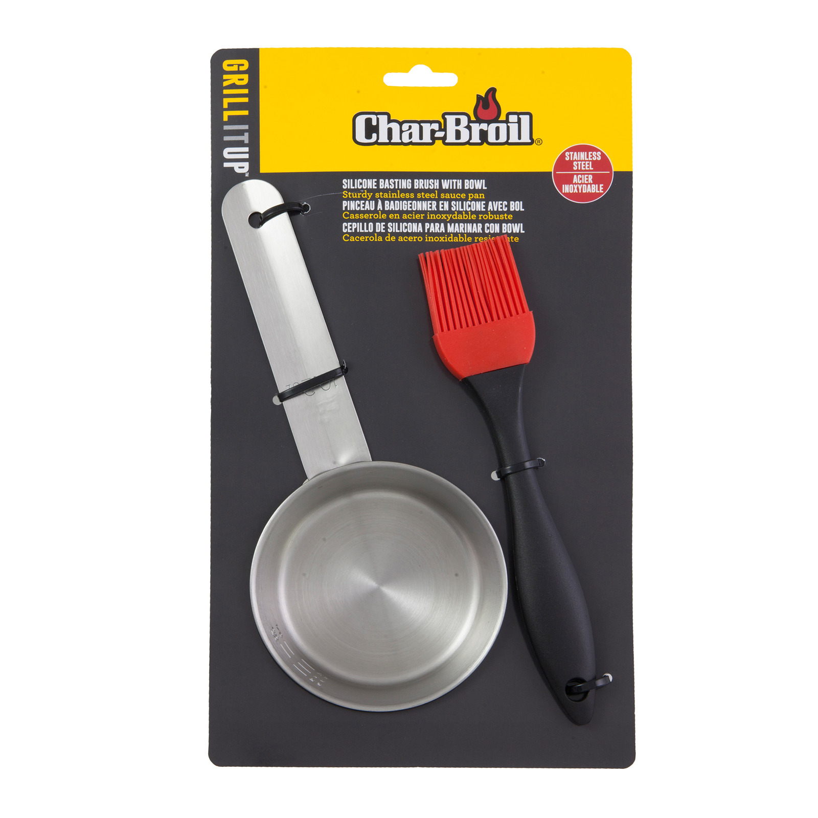 Char-Broil Aspire BBQ Silicone Brush With Bowl