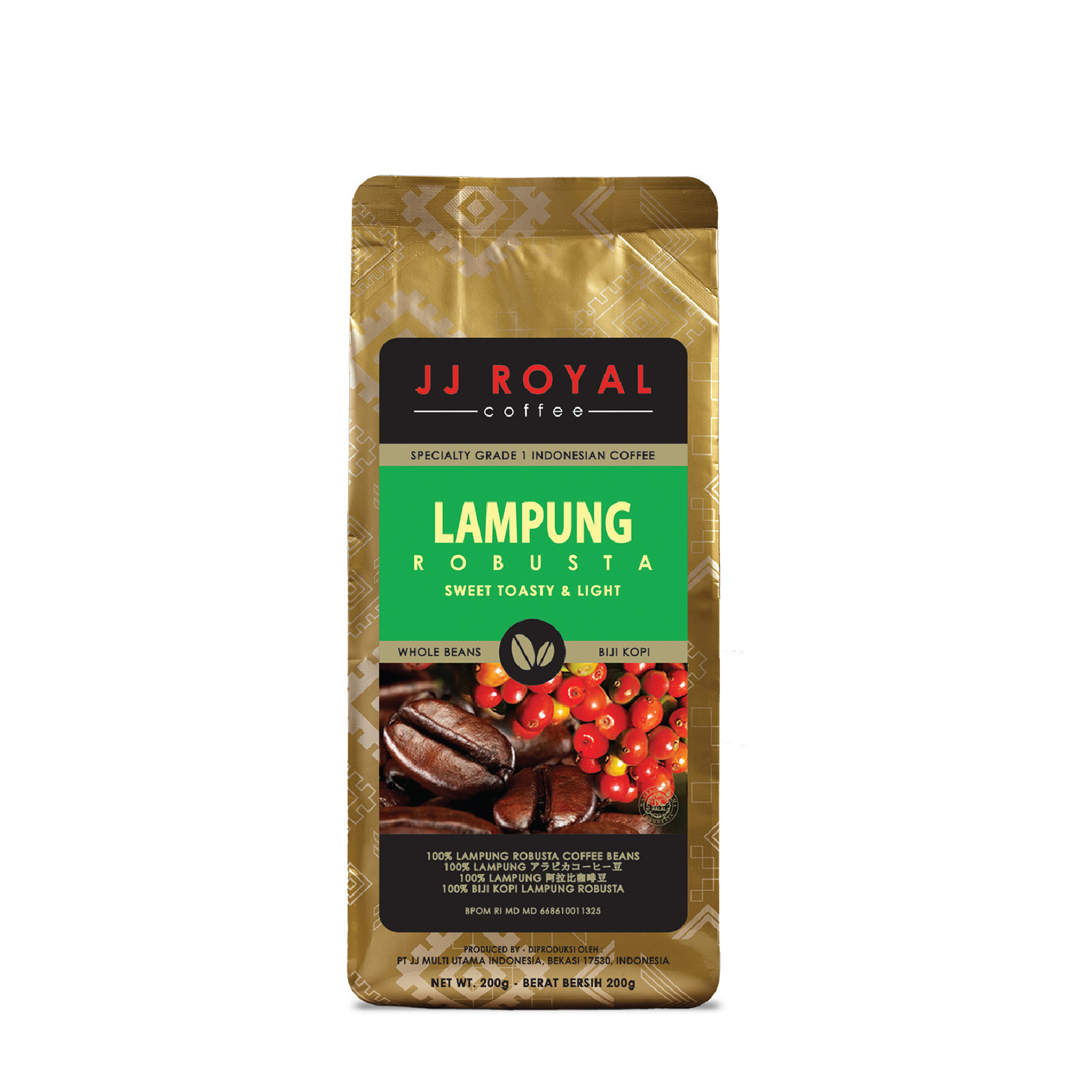 JJ Royal Coffee Lampung 100% Robusta (Bean)