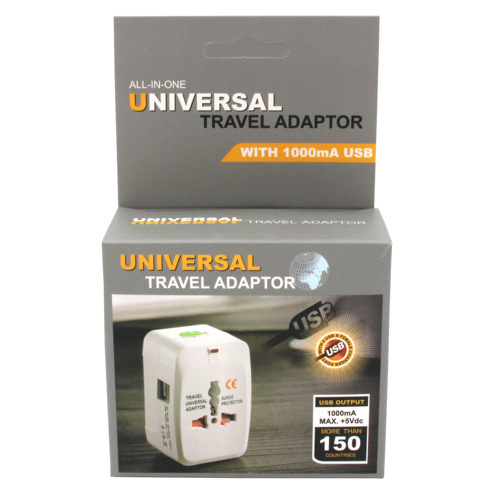 SUM Universal Travel Adapter (2 USB Ports)