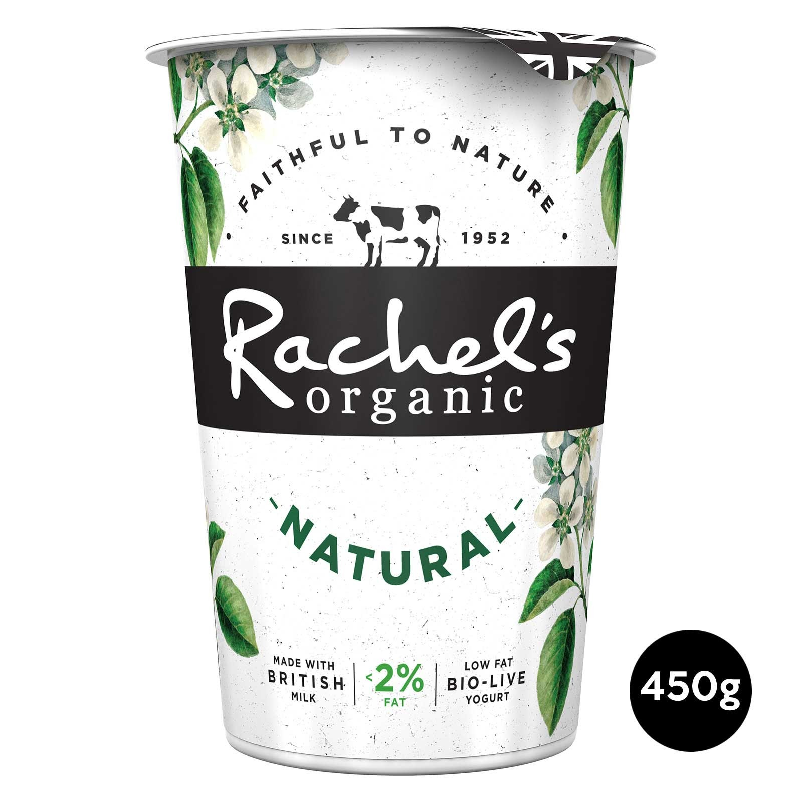 Rachel's Organic Low Fat Natural Bio-Live Yoghurt