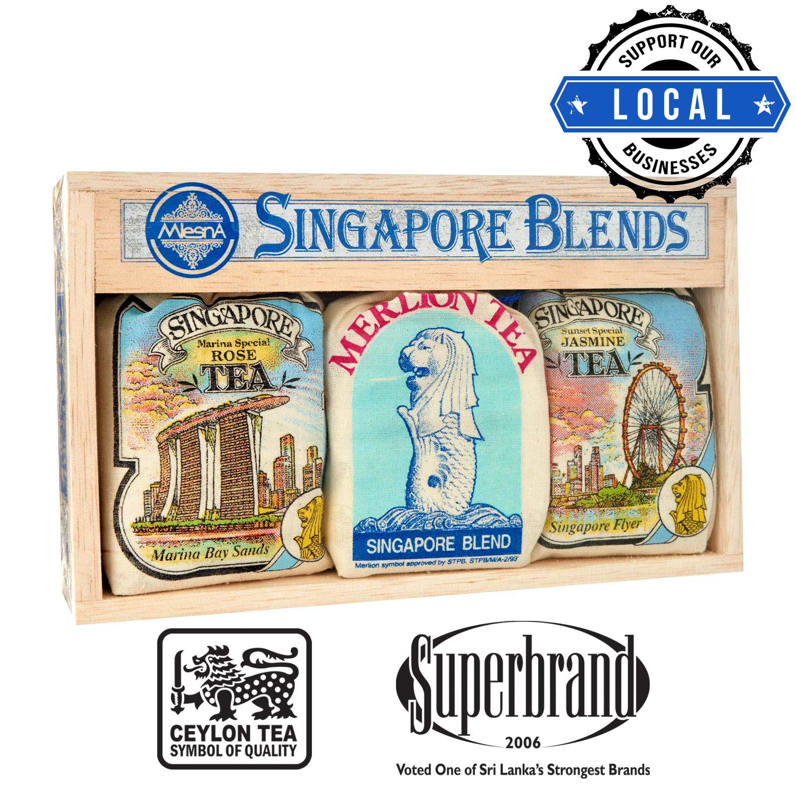 Mlesna Tea Gift Box - Singapore Blends MBS Assorted