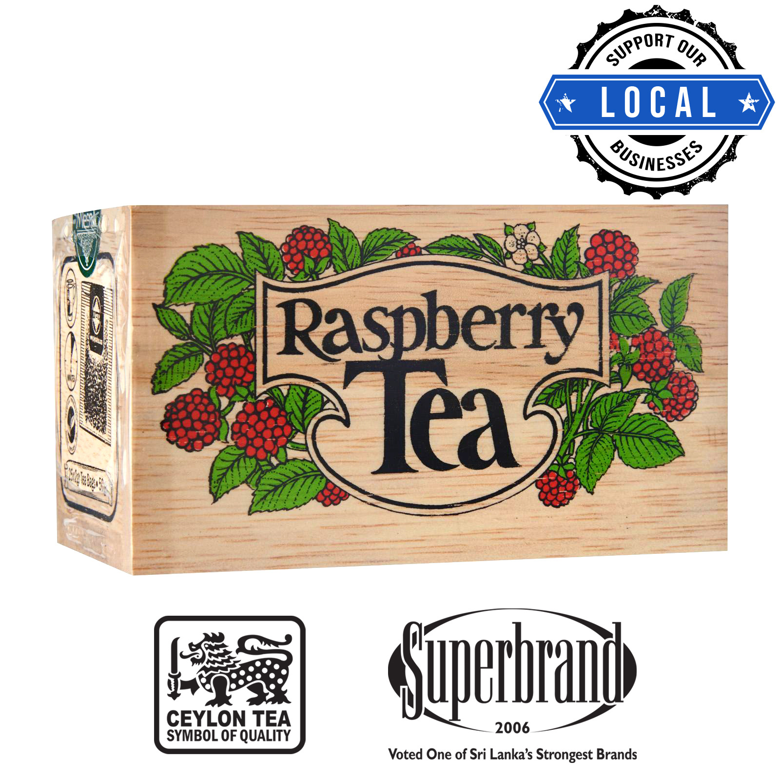 Mlesna Tea Wooden Box - Raspberry