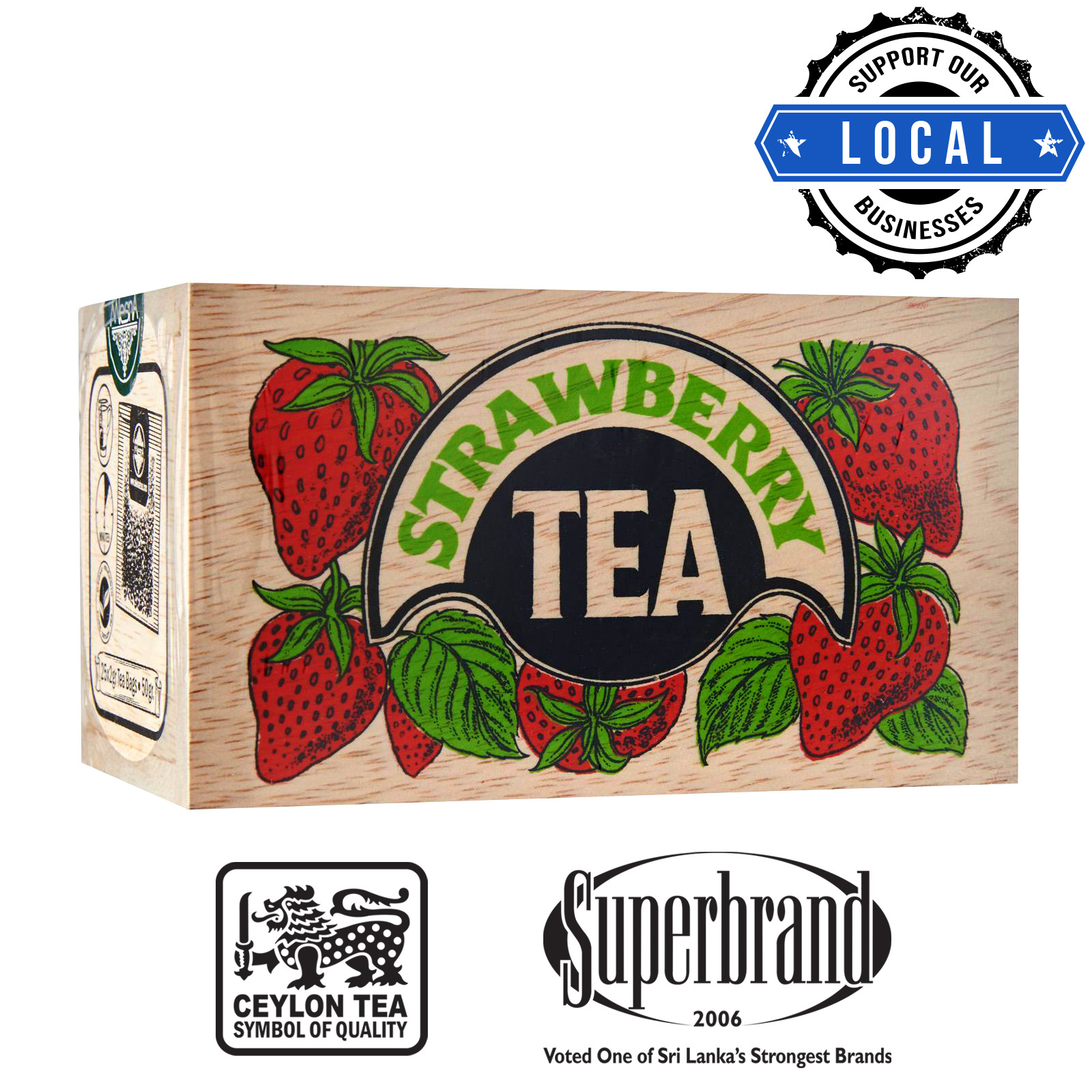 Mlesna Tea Wooden Box - Strawberry
