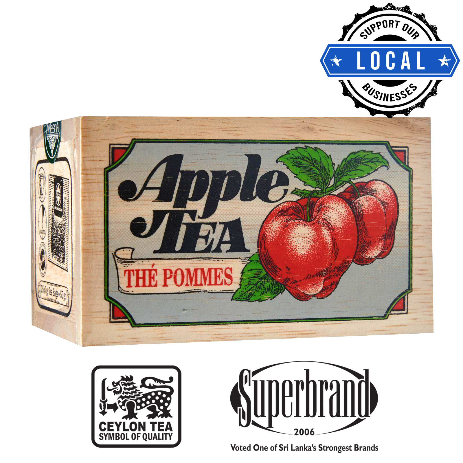Mlesna Tea Wooden Box - Apple
