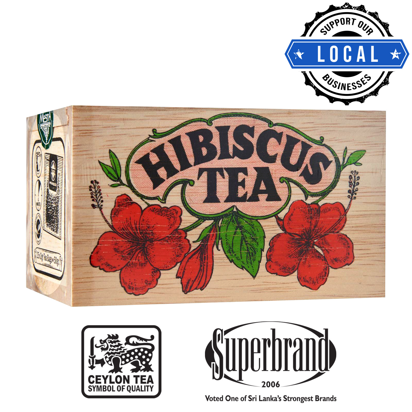 Mlesna Tea Wooden Box - Hibiscus