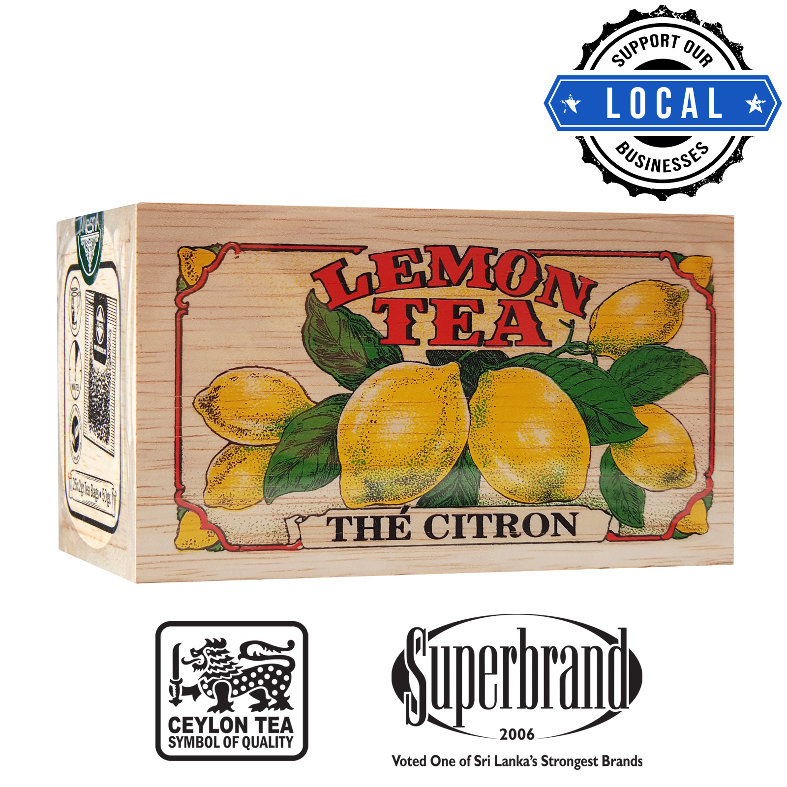 Mlesna Tea Wooden Box - Lemon Jewel