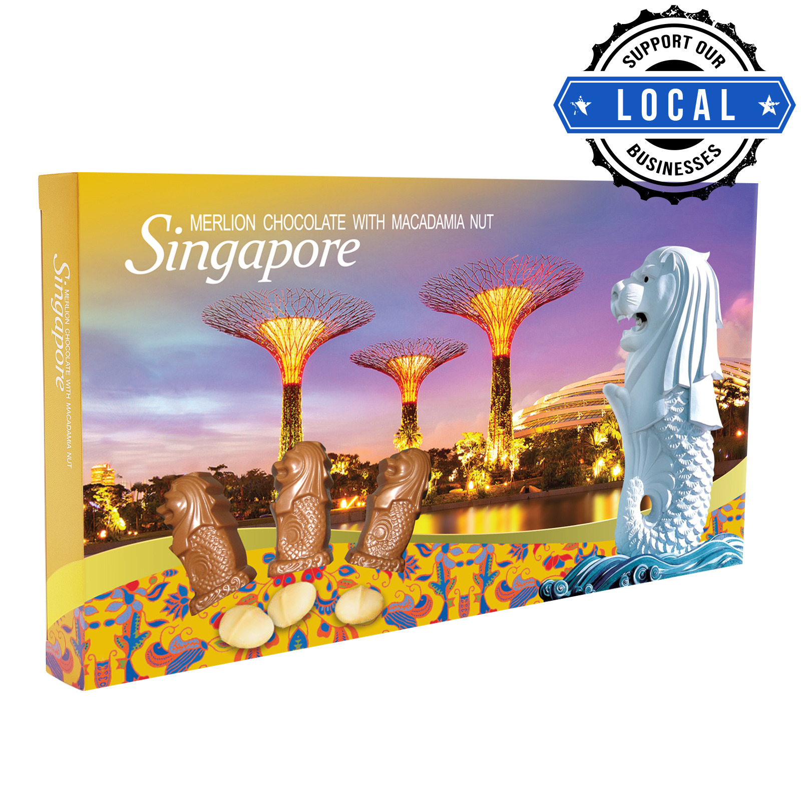 Manly Singapore Merlion Chocolate - Macadamia Nut