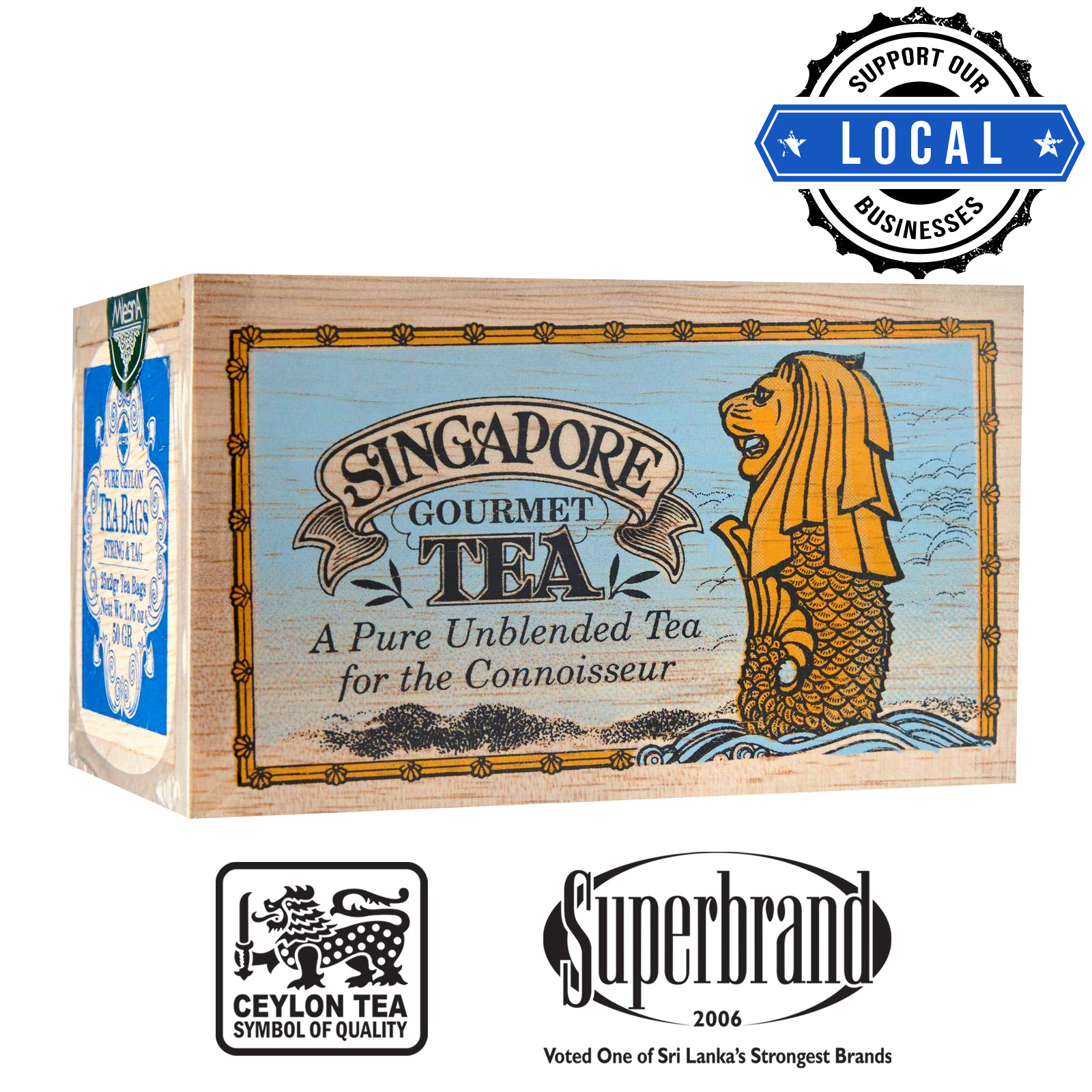 Mlesna Tea Wooden Box - Gourmet