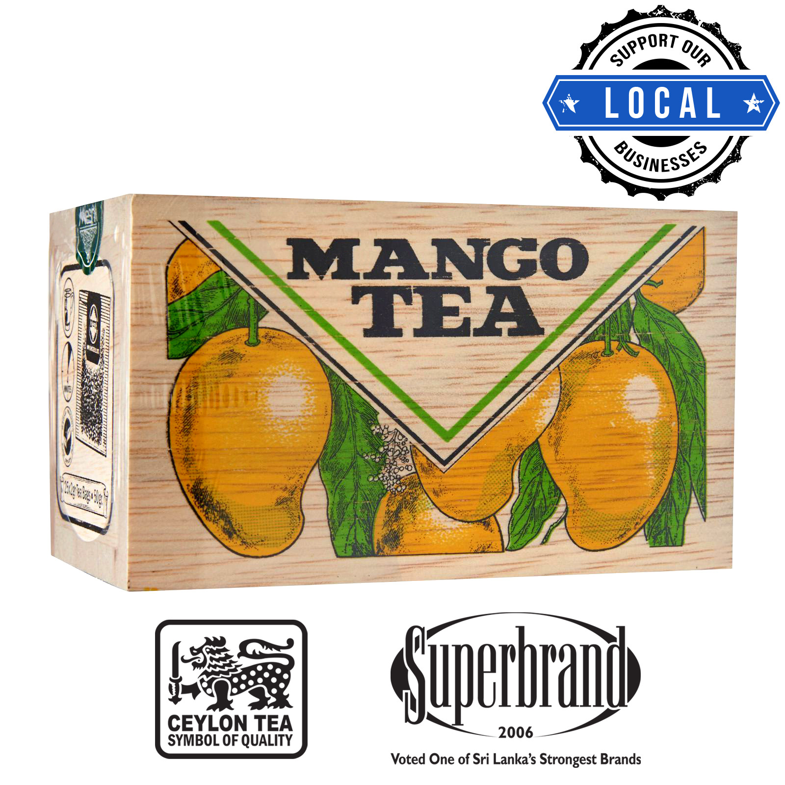 Mlesna Tea Wooden Box - Mango
