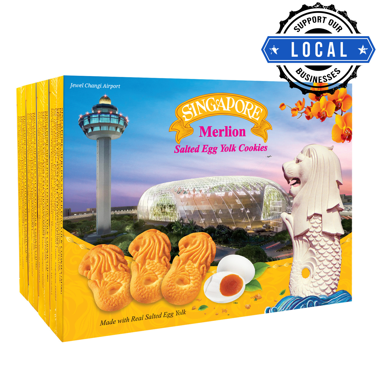 Manly Singapore Merlion Butter Cookies - Salted Egg Yolk
