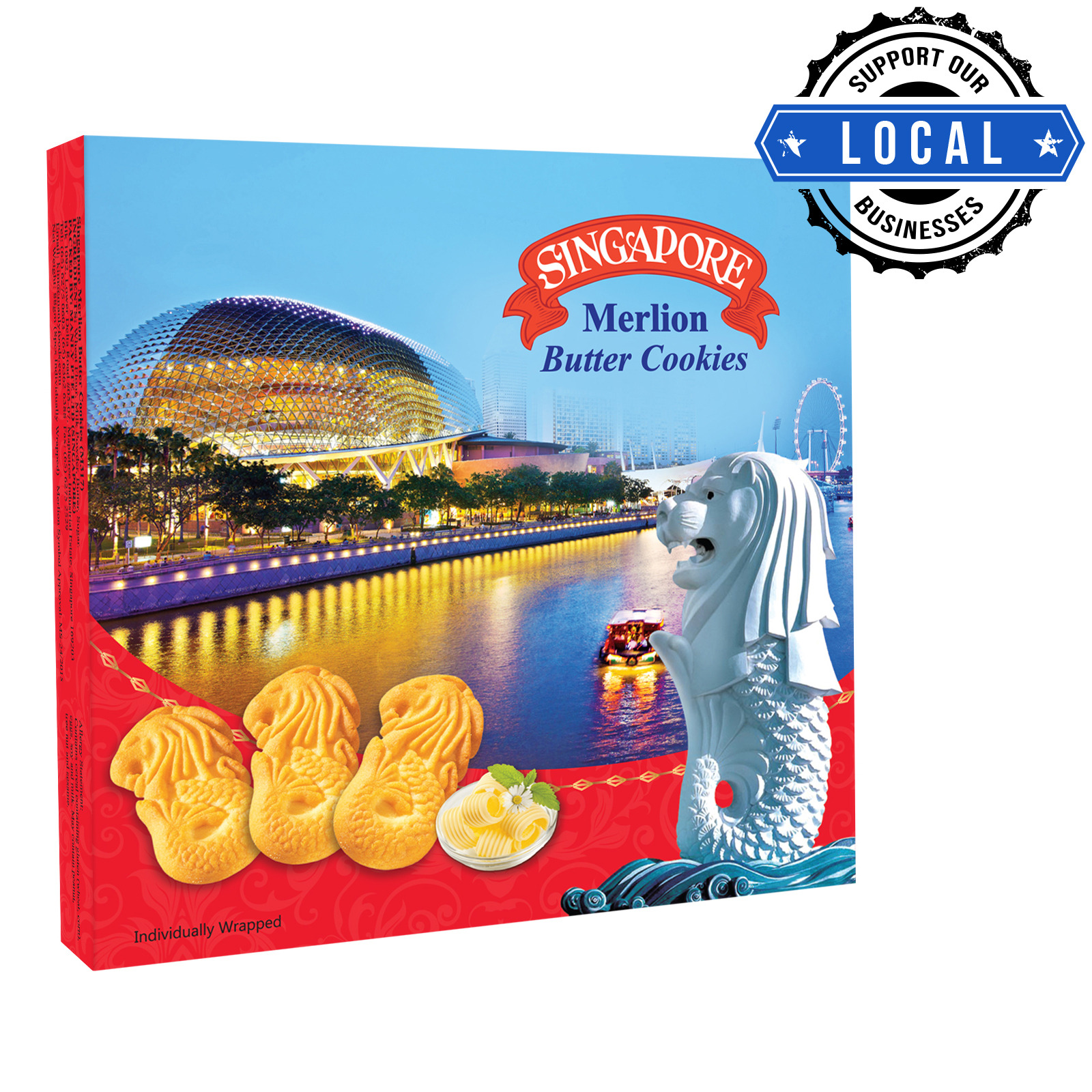 Manly Singapore Merlion Butter Cookies - Butter