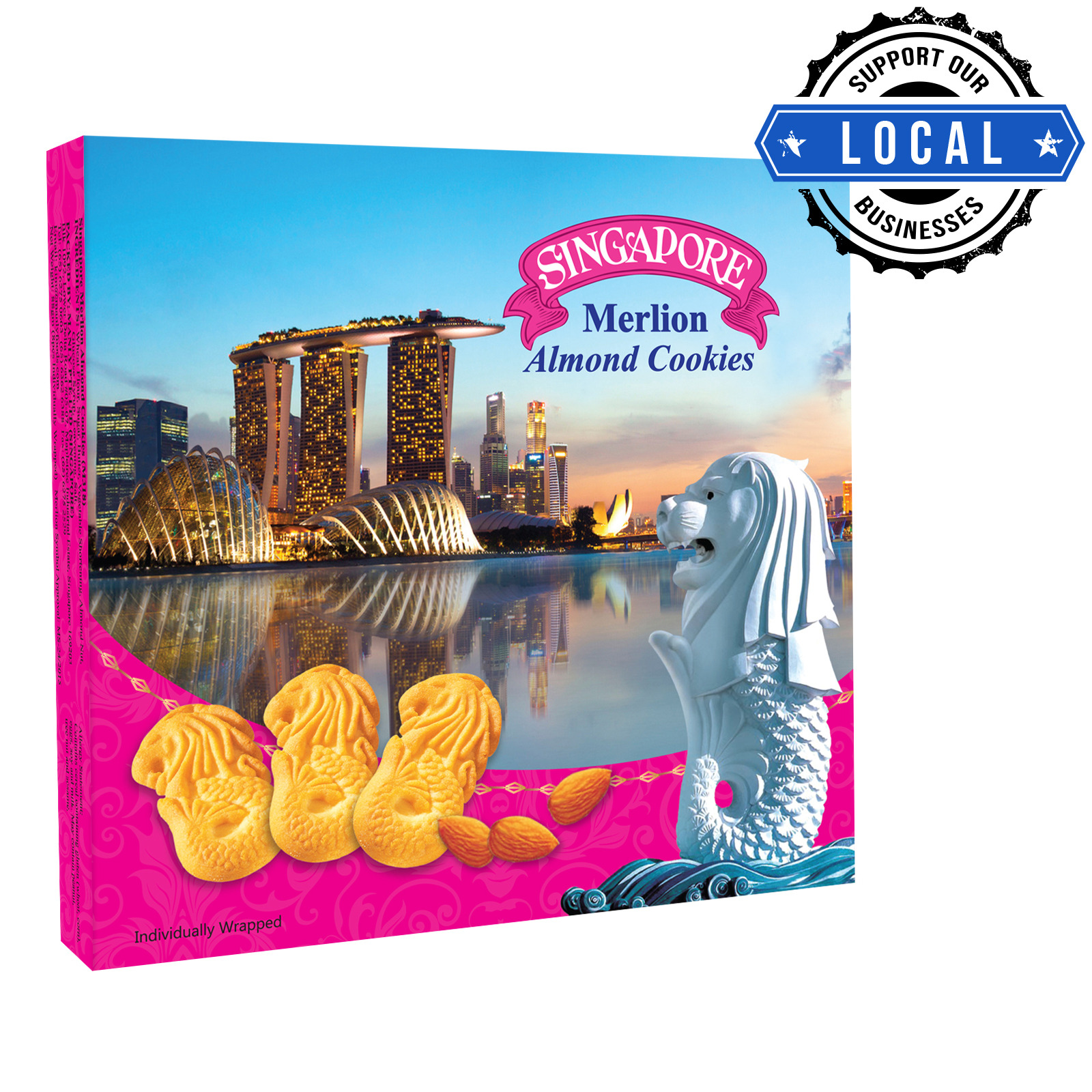 Manly Singapore Merlion Butter Cookies - Almond
