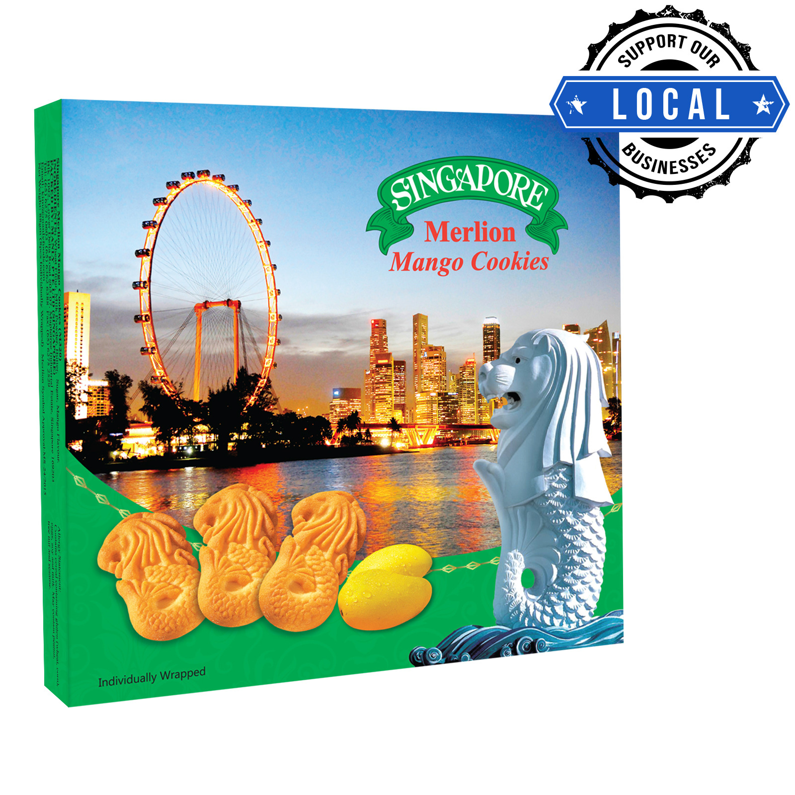 Manly Singapore Merlion Butter Cookies - Mango