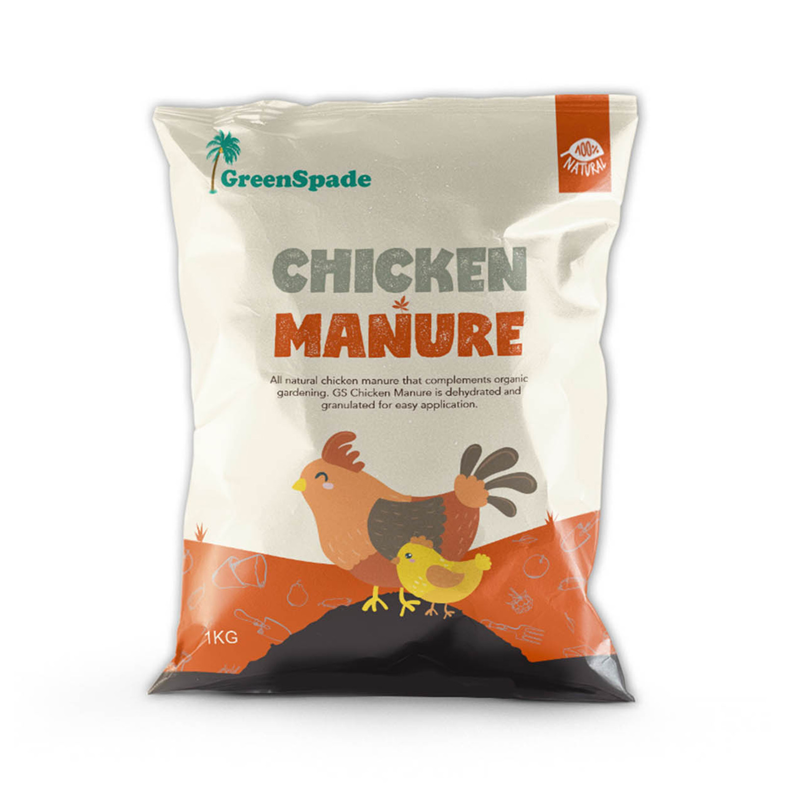GreenSpade Chicken Manure 1kg