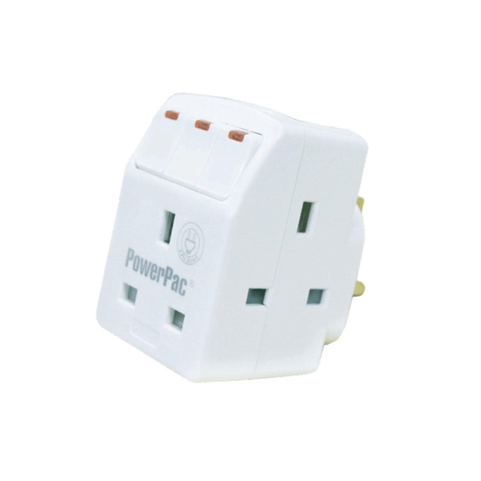 PowerPac 3 Way Adapter With Switch & 2 Pin Direct PP8733