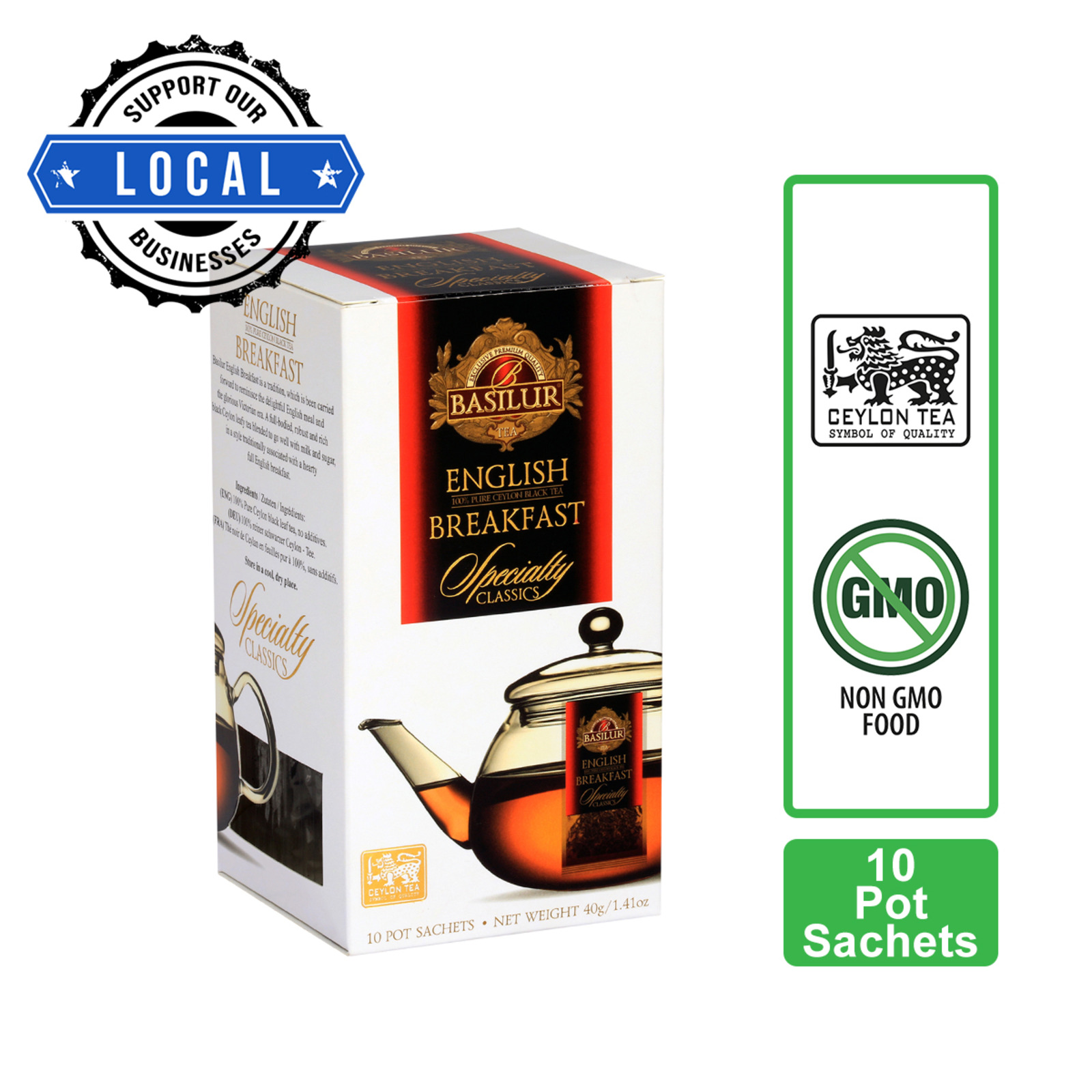 DILMAH Tea Bags - English Breakfast Tea 50sX2g