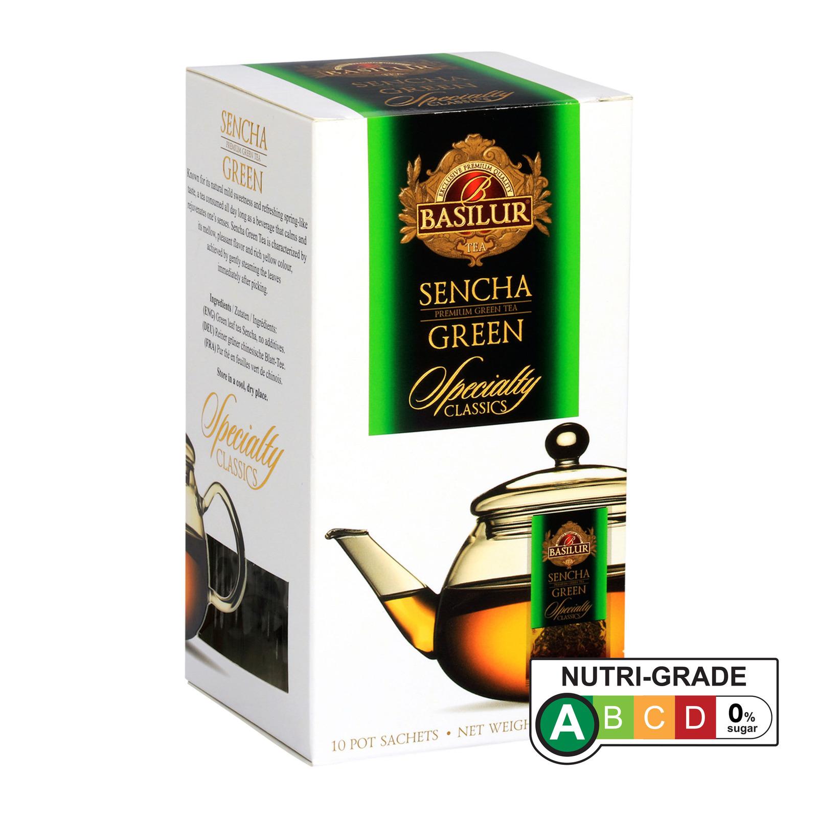 Basilur Tea Bags For Pot - Sencha Green Tea