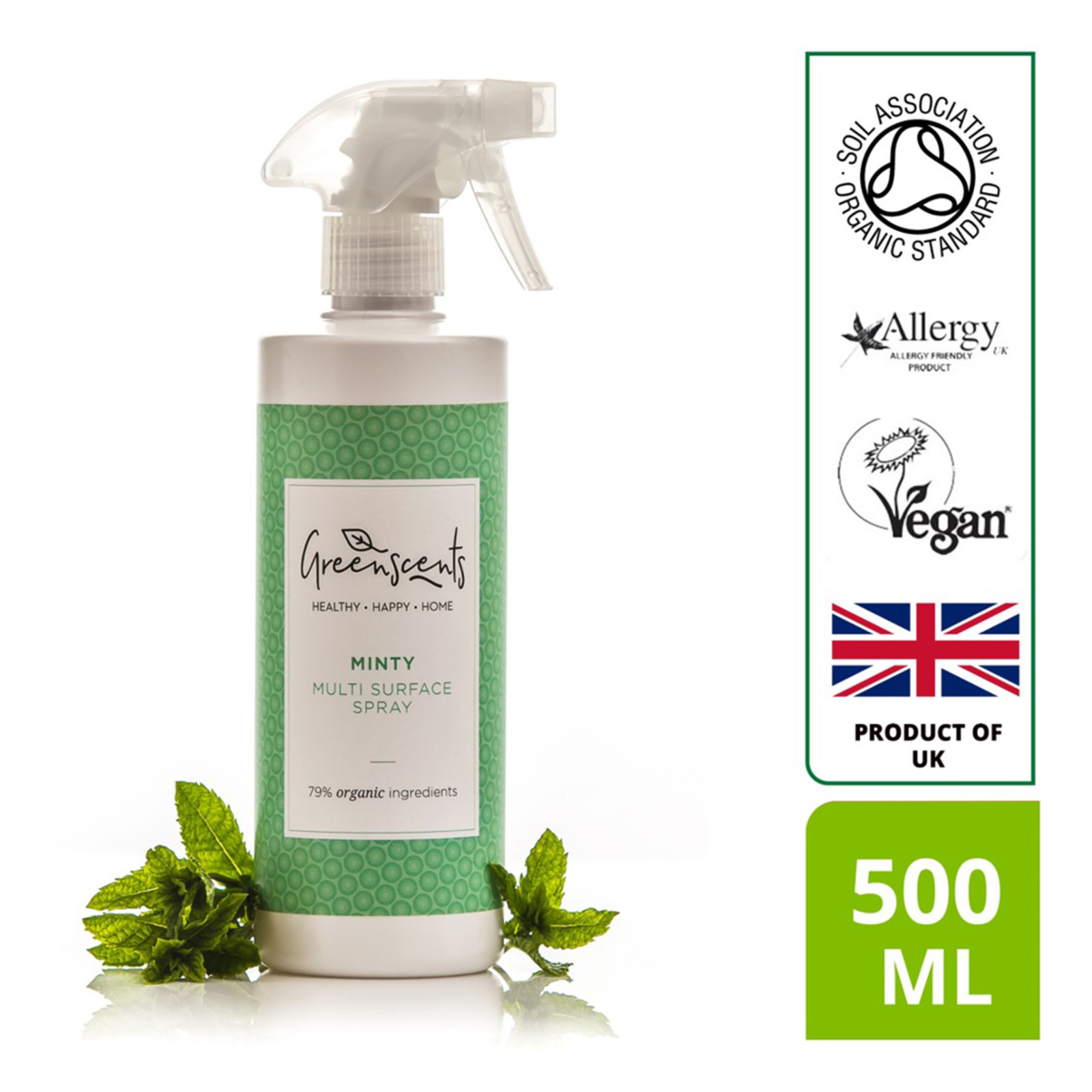 Greenscent Organic Multi-Surface Sprayer - Mint