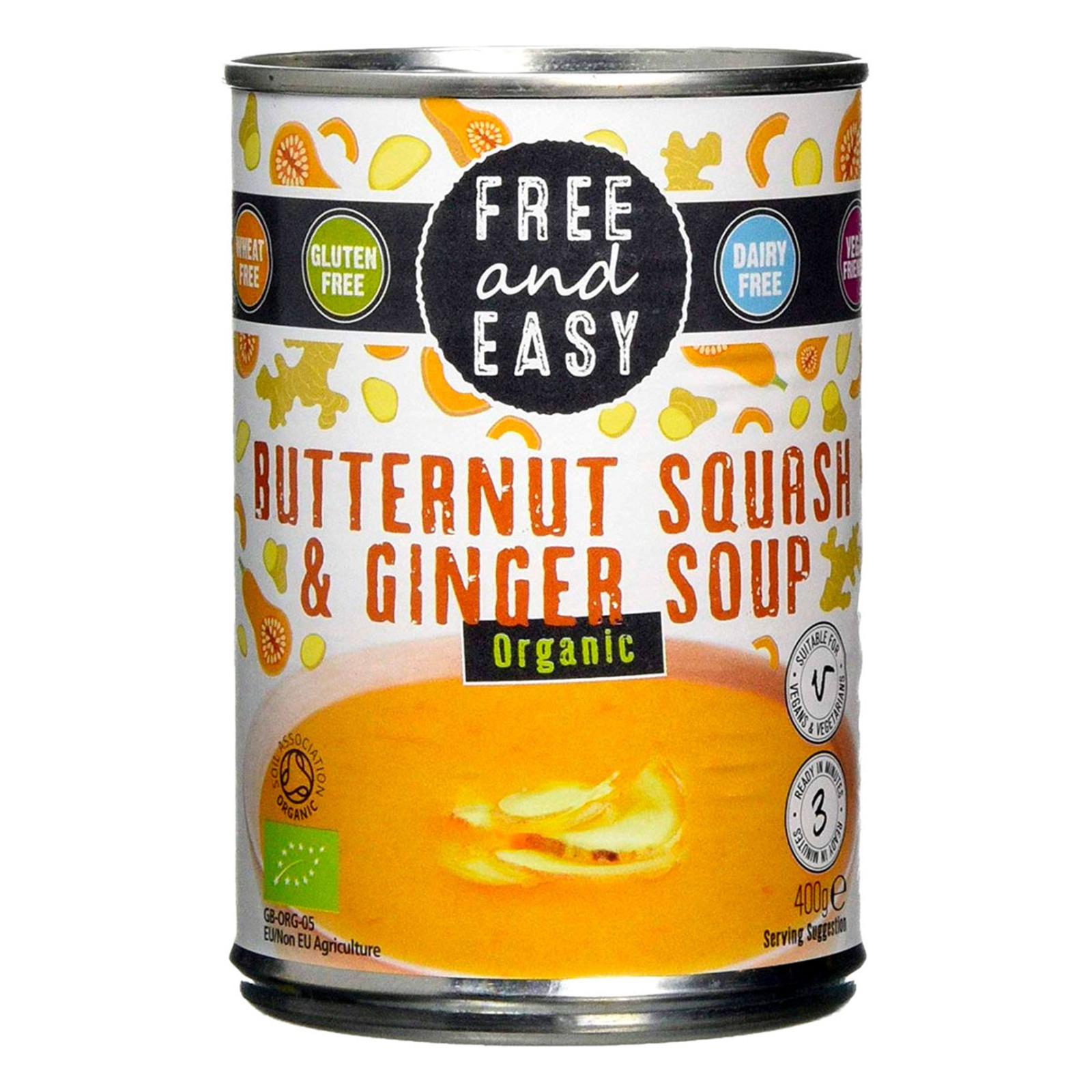 Free & Easy Organic Butternut Squash & Ginger Soup