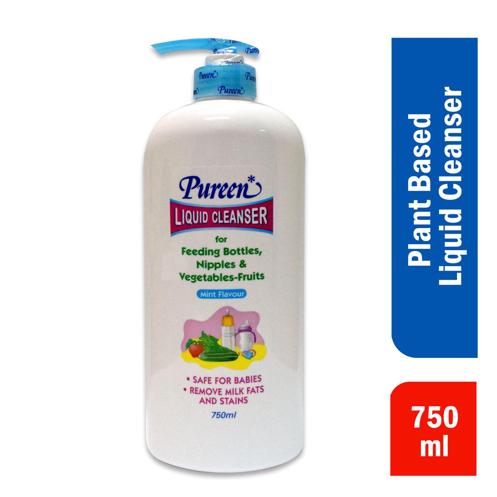 Pureen Liquid Cleanser For Feeding Bottles Nipples Veg - Mint