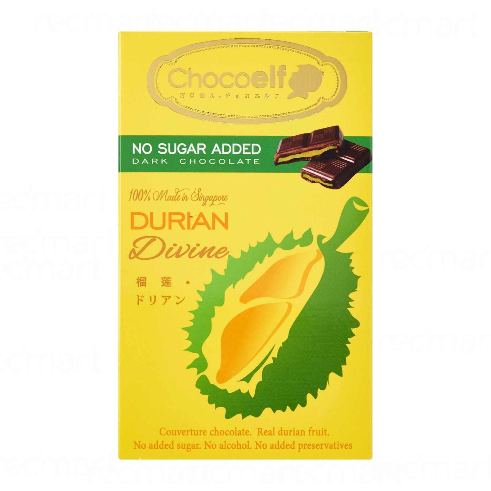CHOCOELF Bar Chocolate - Durian (No Sugar-Added)