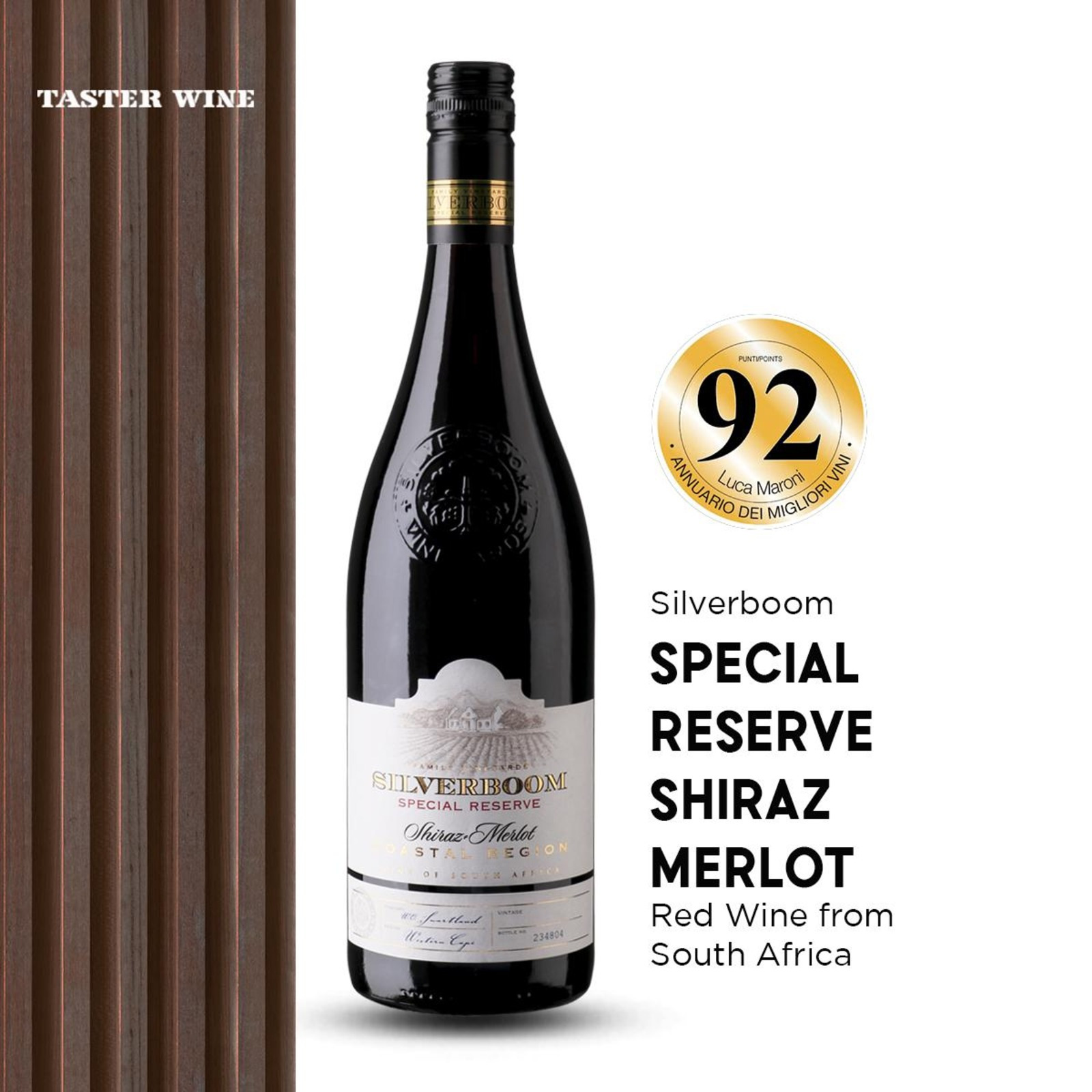 Silverboom Shiraz/Merlot - Red Wine