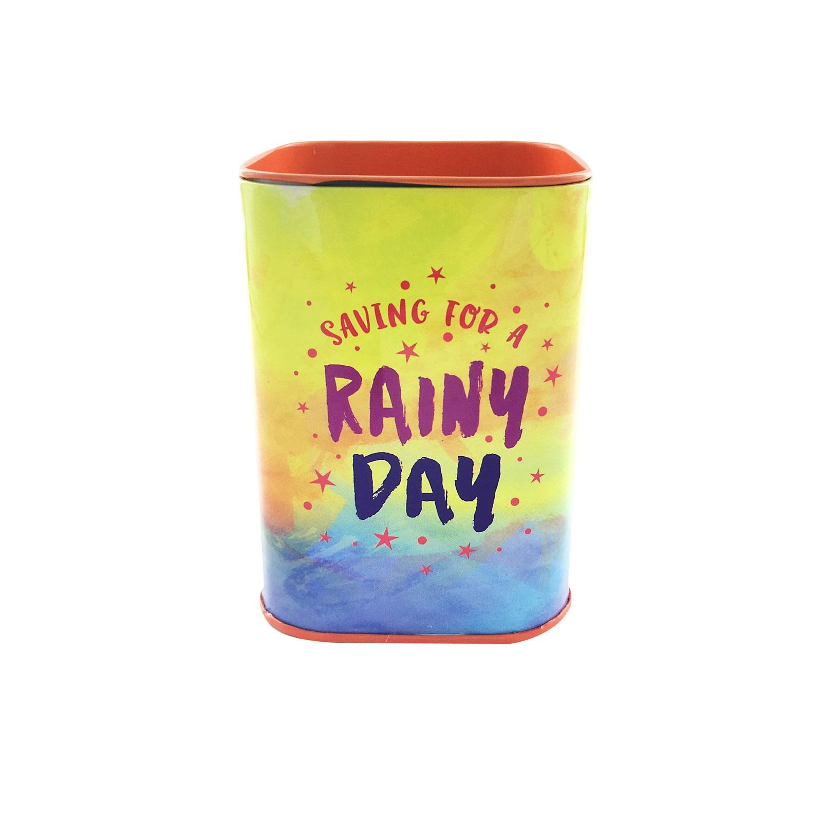 The Paper Stone Savings Coin Tins - Saving For A Rainy Day