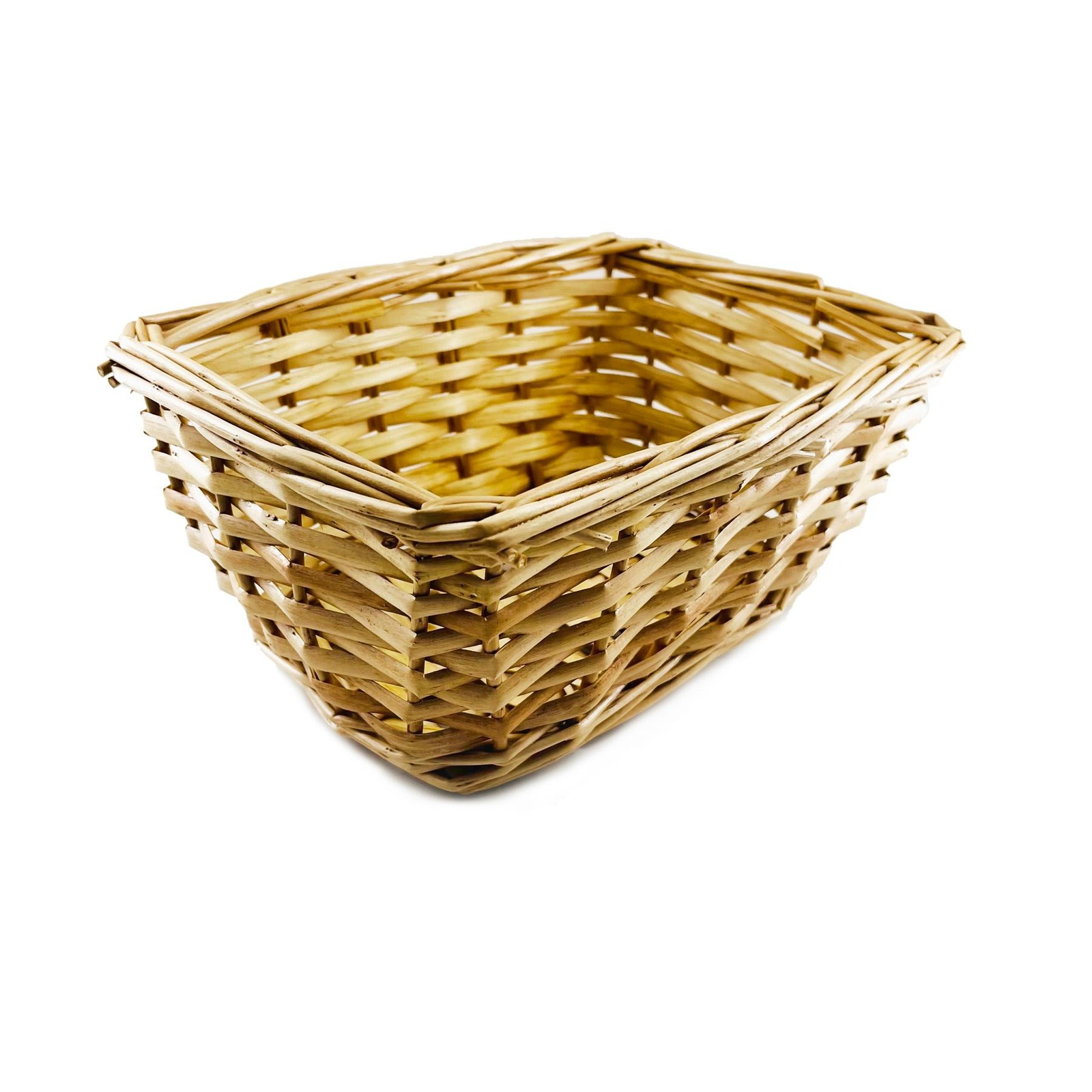 The Paper Stone Cloth Rattan Basket with Cat Prints - Small