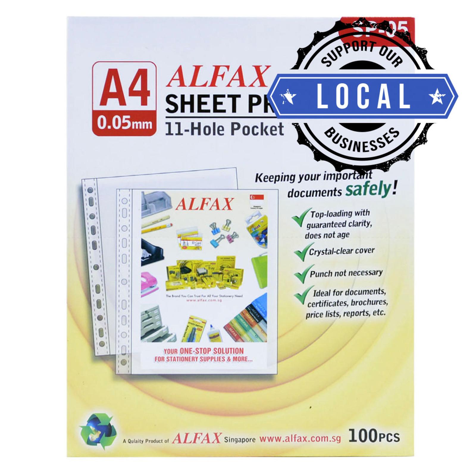 ALFAX SP05 Sheet Protector 11 Hole 0.05mm A4