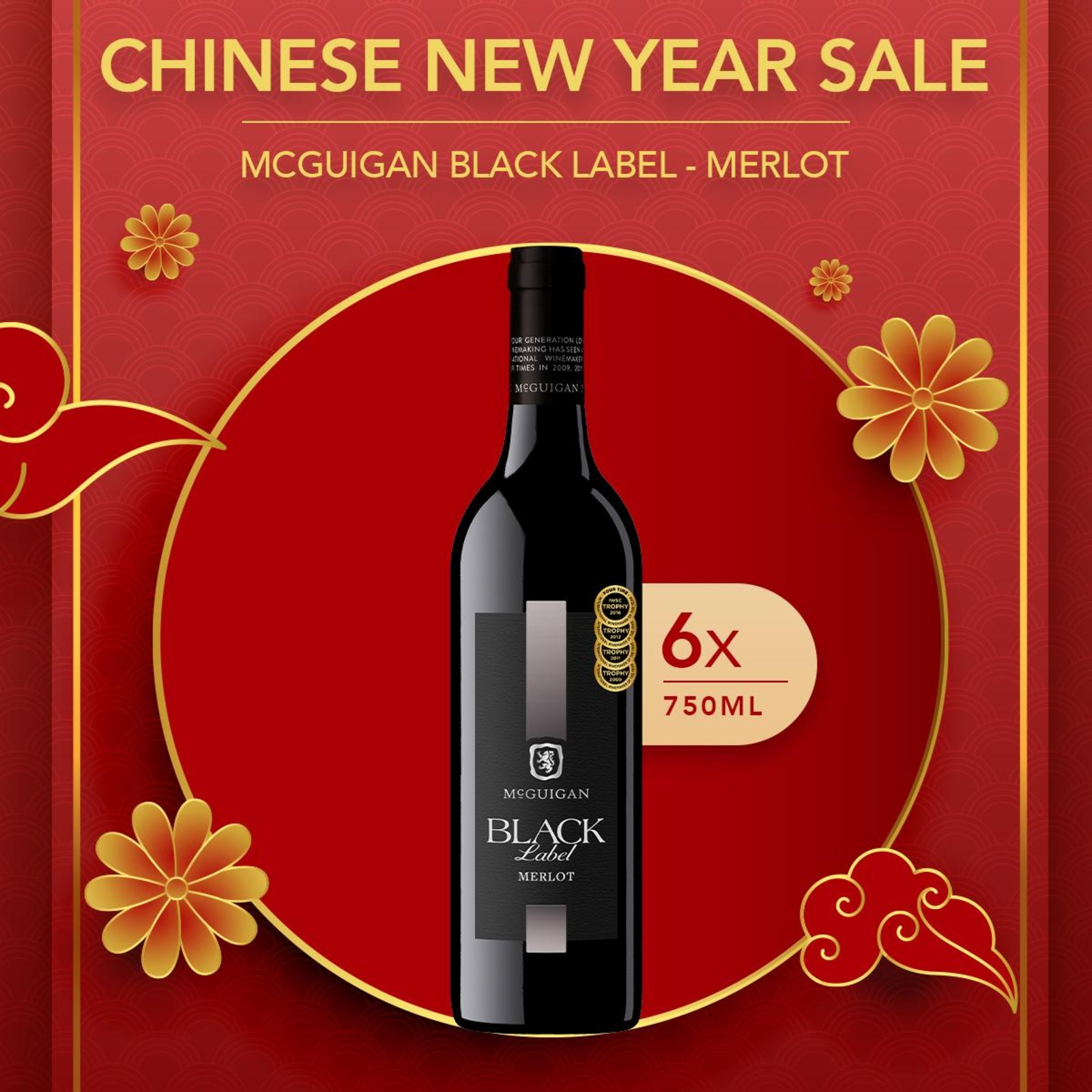 MCGUIGAN BLACK LABEL MERLOT - CASE
