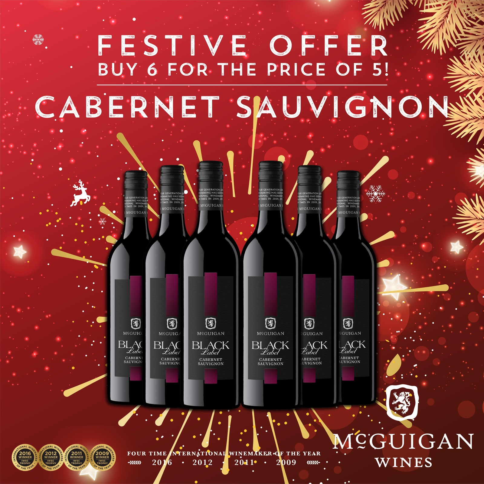 MCGUIGAN BLACK LABEL CABERNET SAUVIGNON - CASE