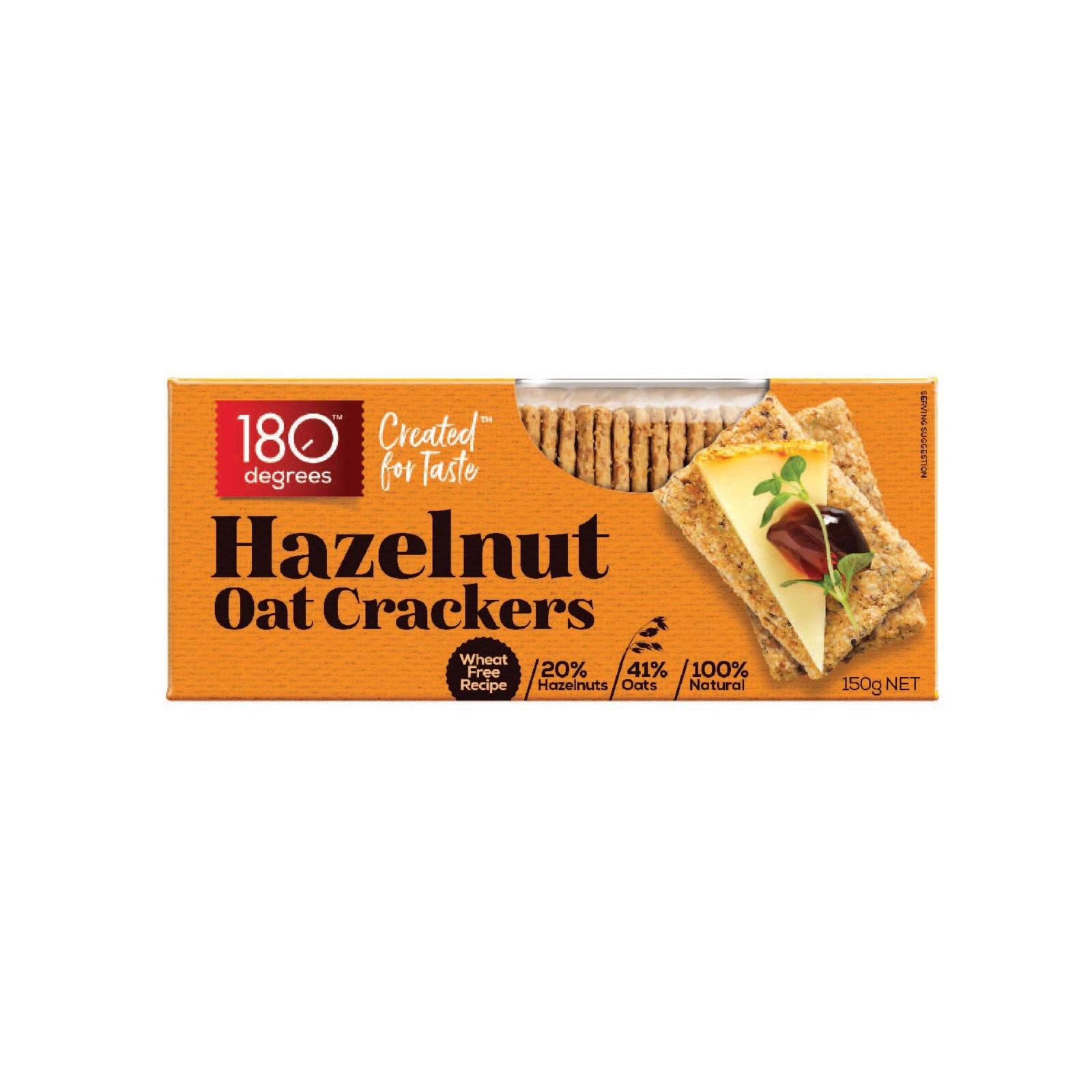 180 Degree Hazelnut Oat Crackers