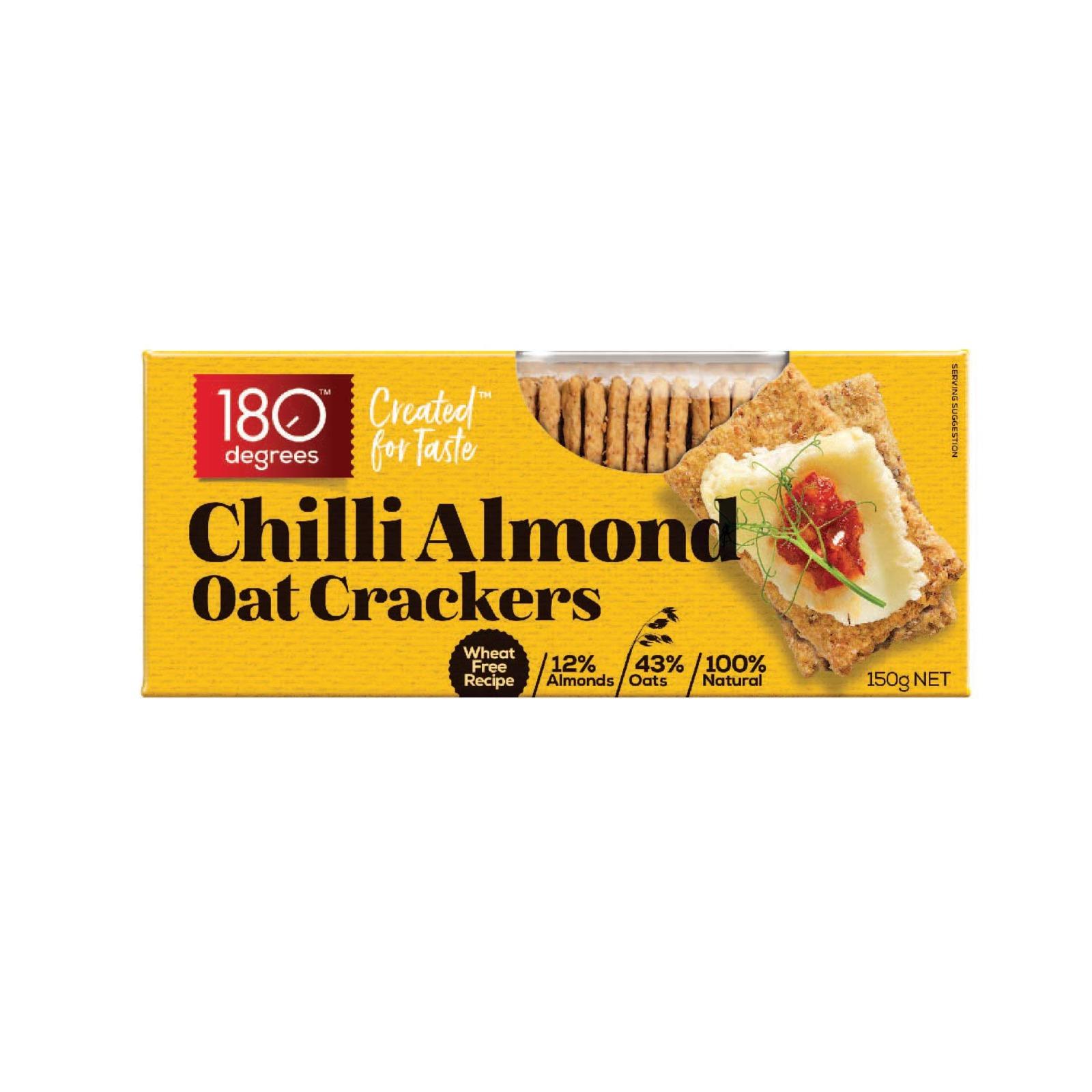 180 Degree Chilli Pepper Oat Crackers