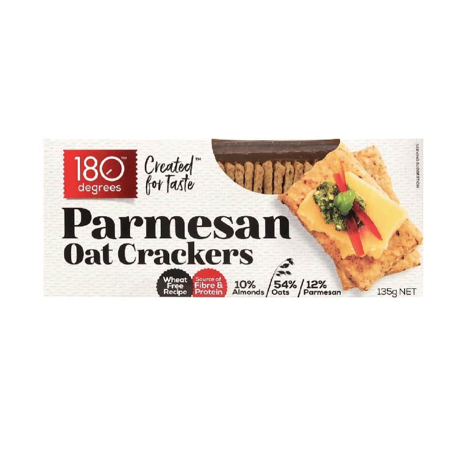 180 Degree Parmesan Oat Crackers