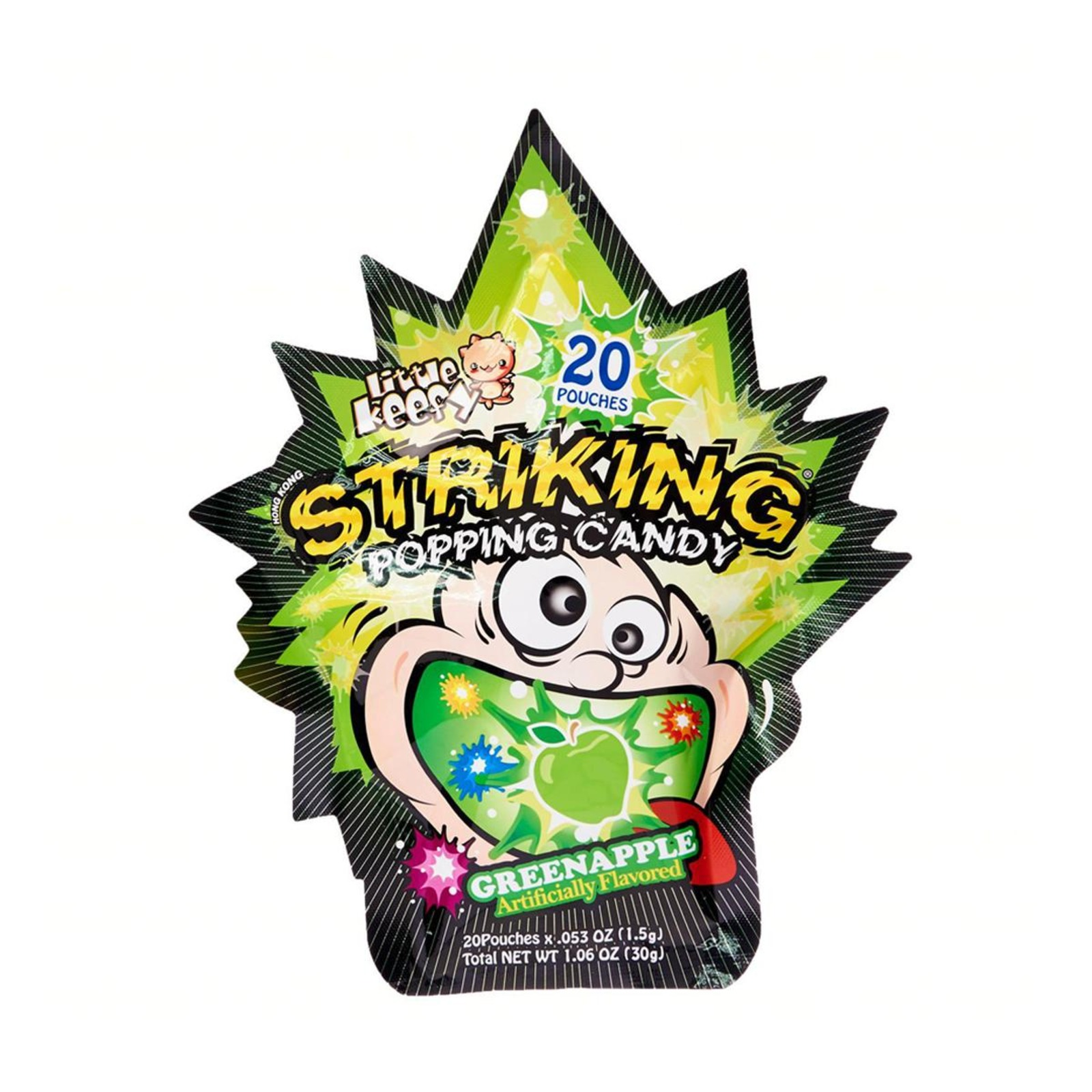 Little Keefy Striking Popping Candy - Green Apple