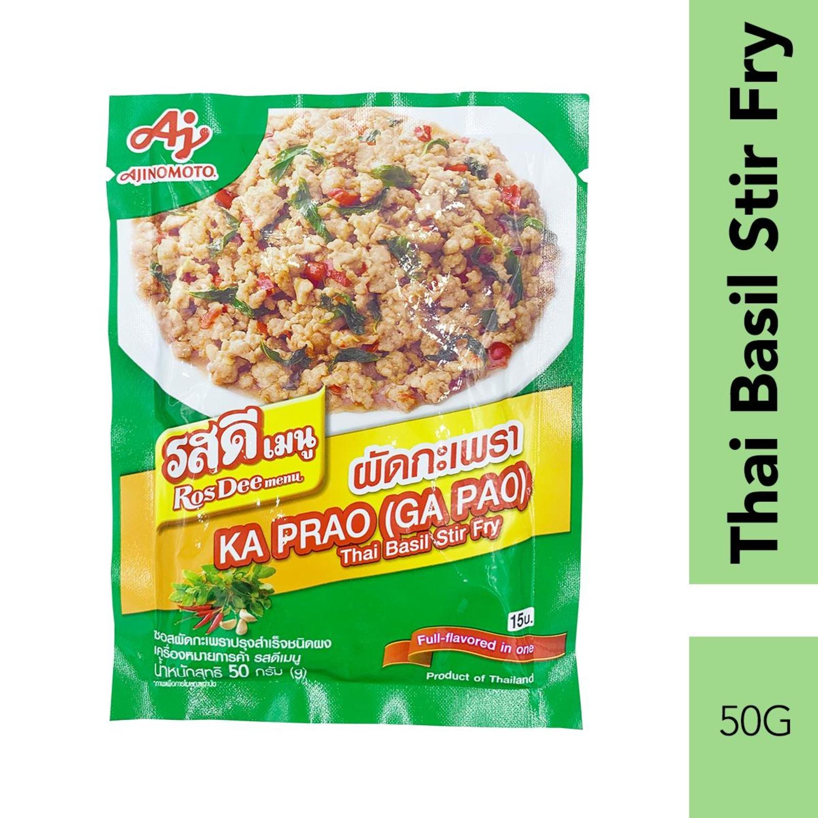 RosDee Menu KAPRAO Thai Basil Stir Fry