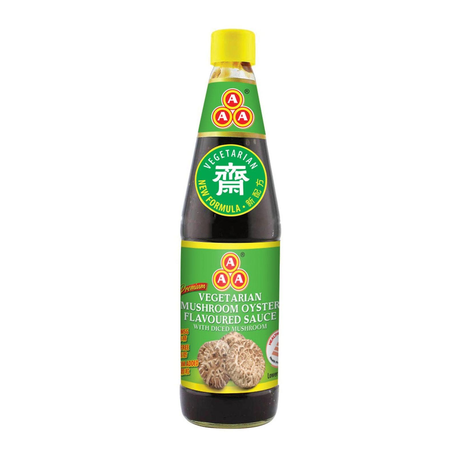 AAA Premium Vegetarian Mushroom Oyster Flavoured Sauce With Diced Mushroom