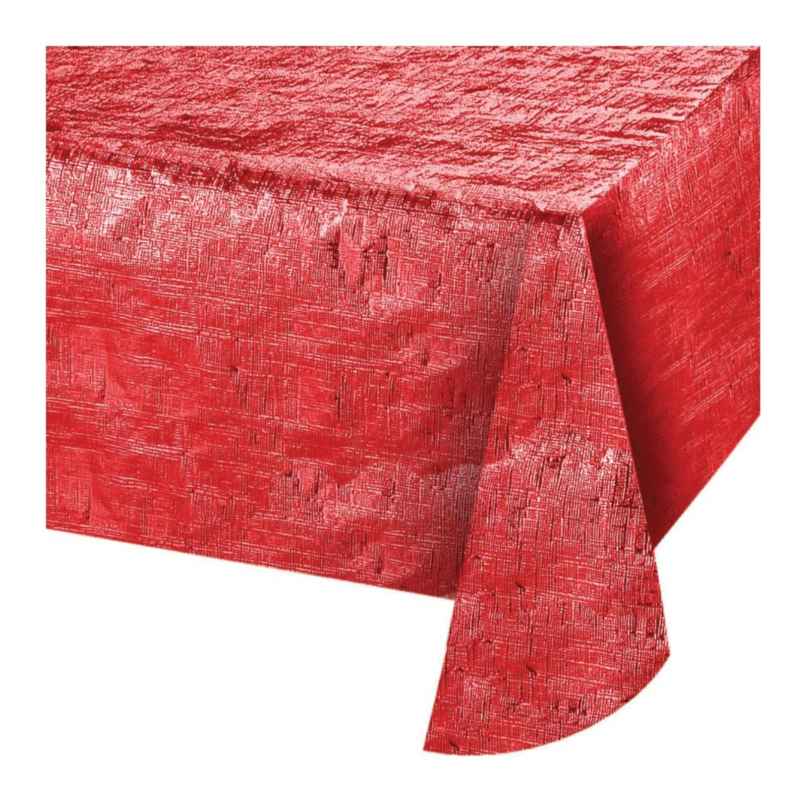 Creative Converting Red Metallic Tablecover