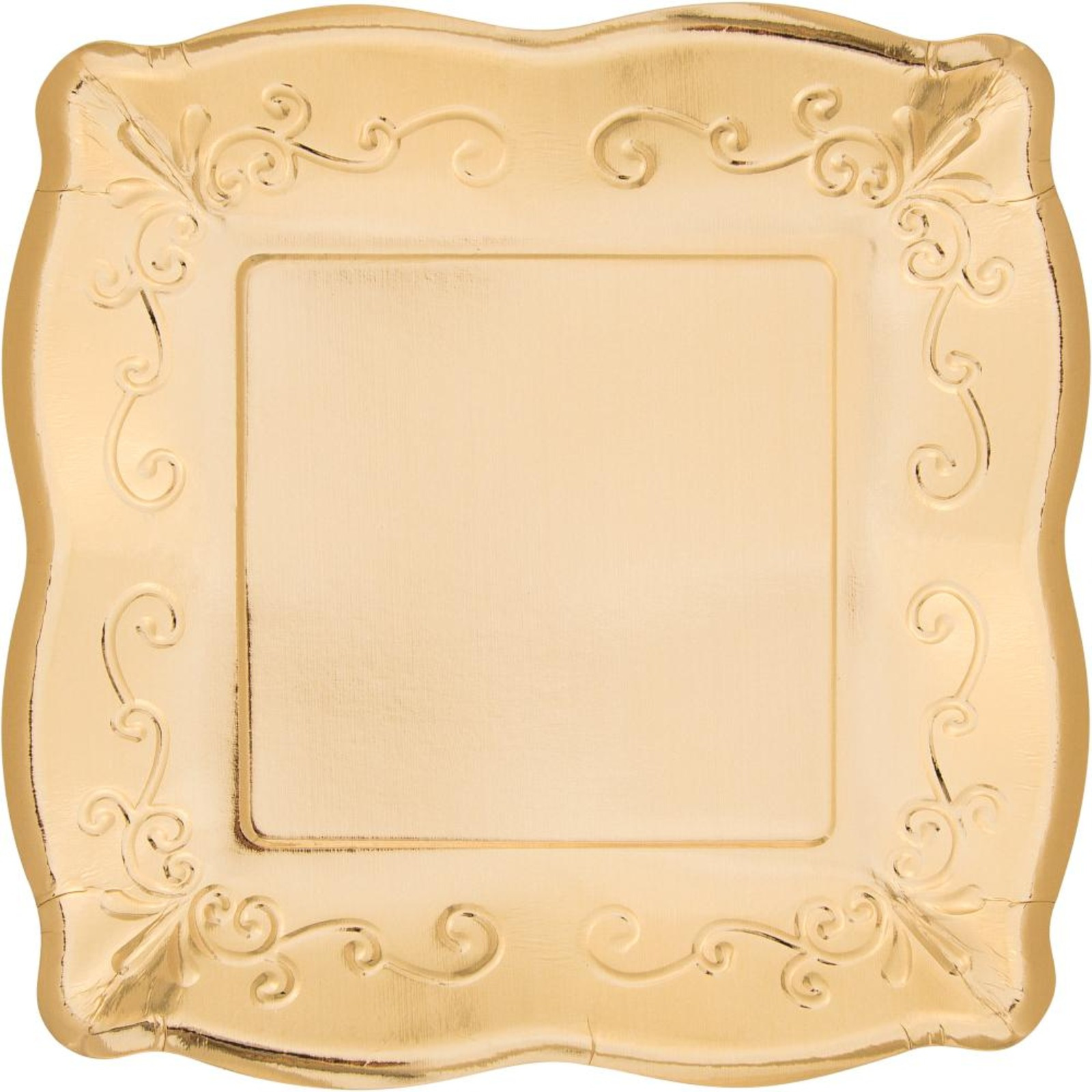 Creative Converting Gold 7 Inch Embossed Square Plates